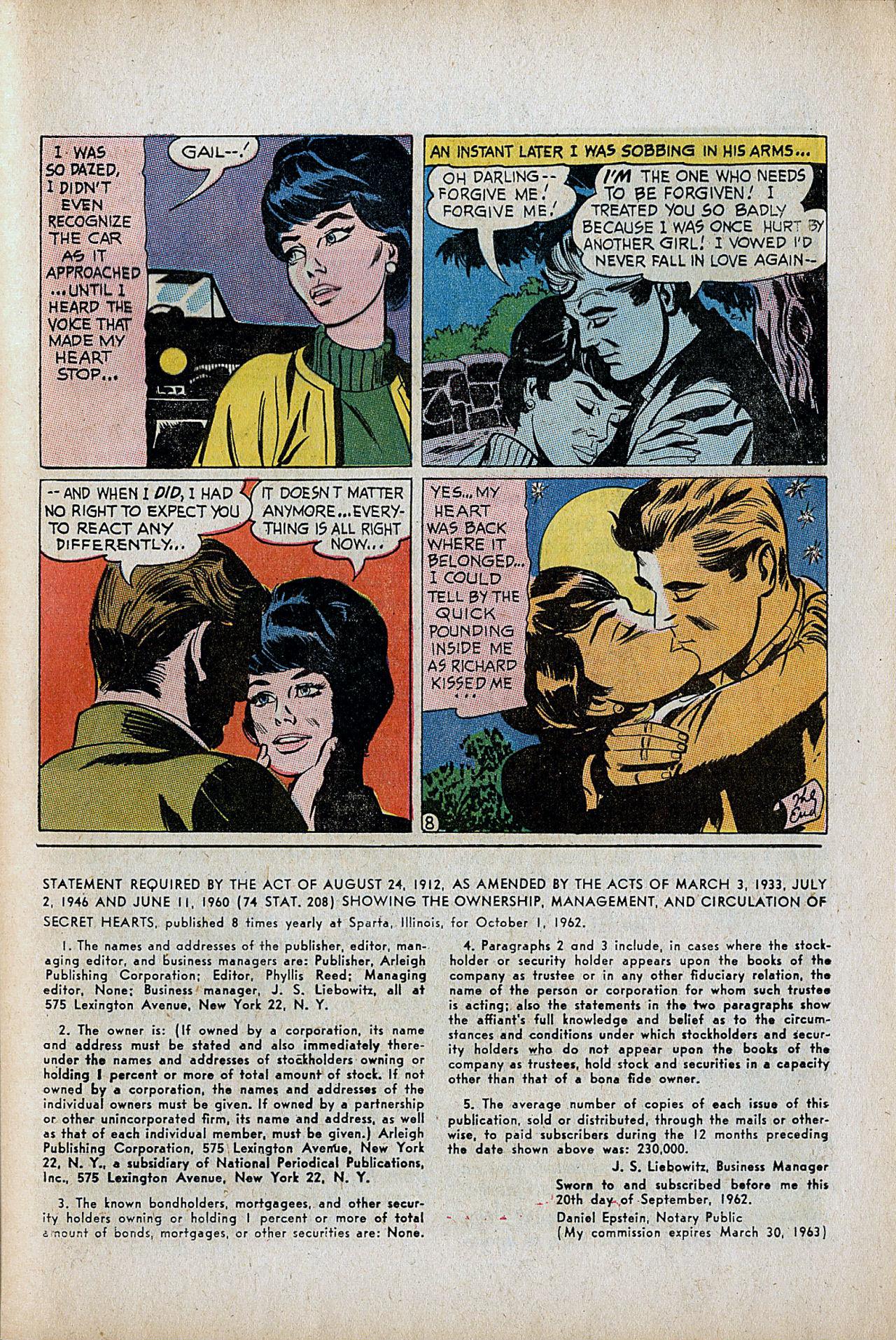 Read online Secret Hearts comic -  Issue #86 - 25