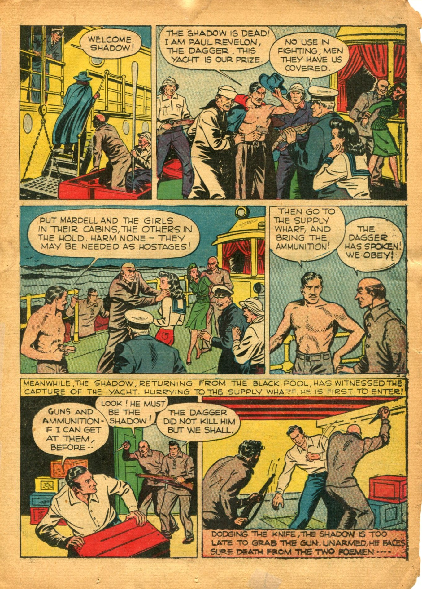 Read online Shadow Comics comic -  Issue #12 - 21