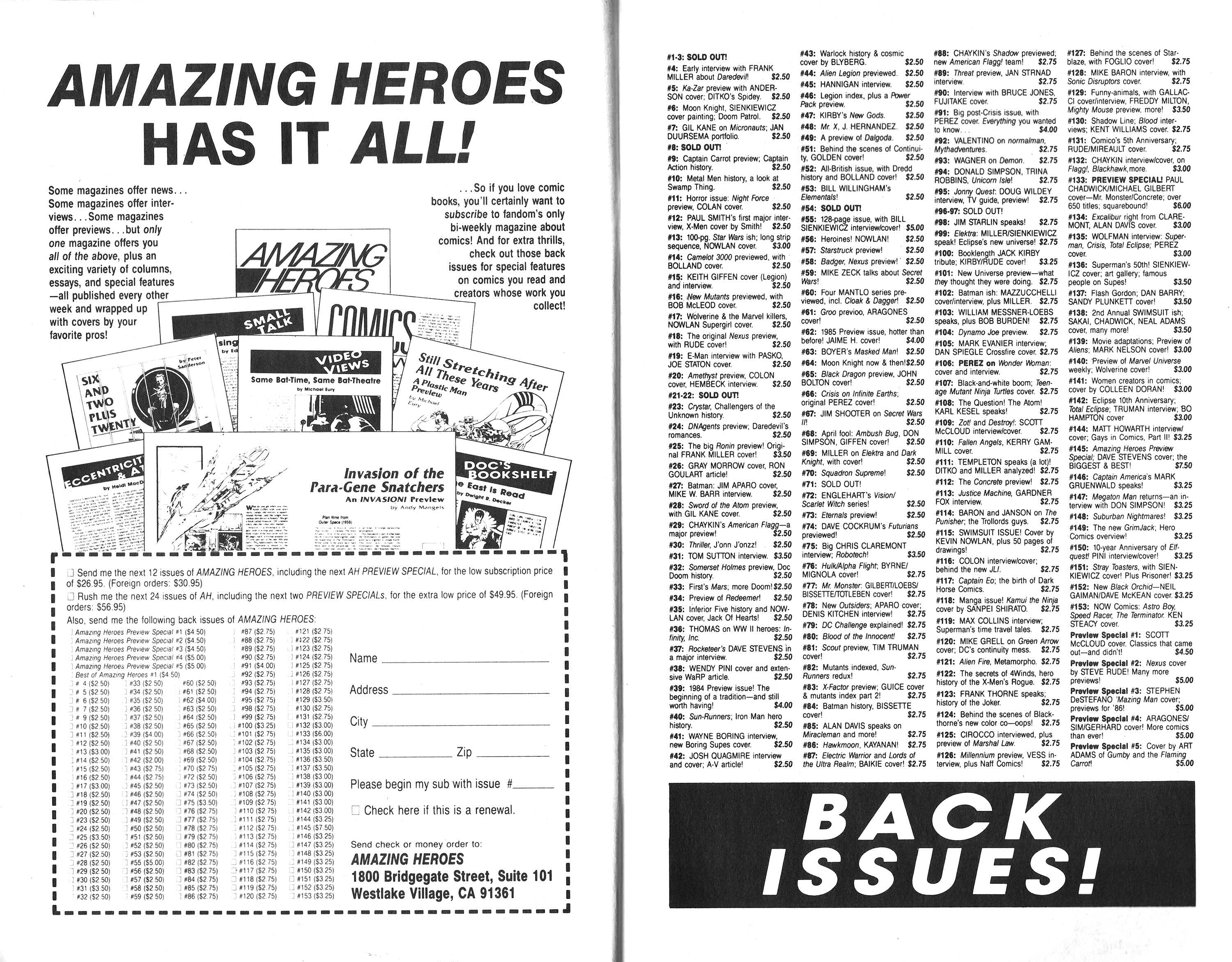 Read online Amazing Heroes comic -  Issue #162 - 8