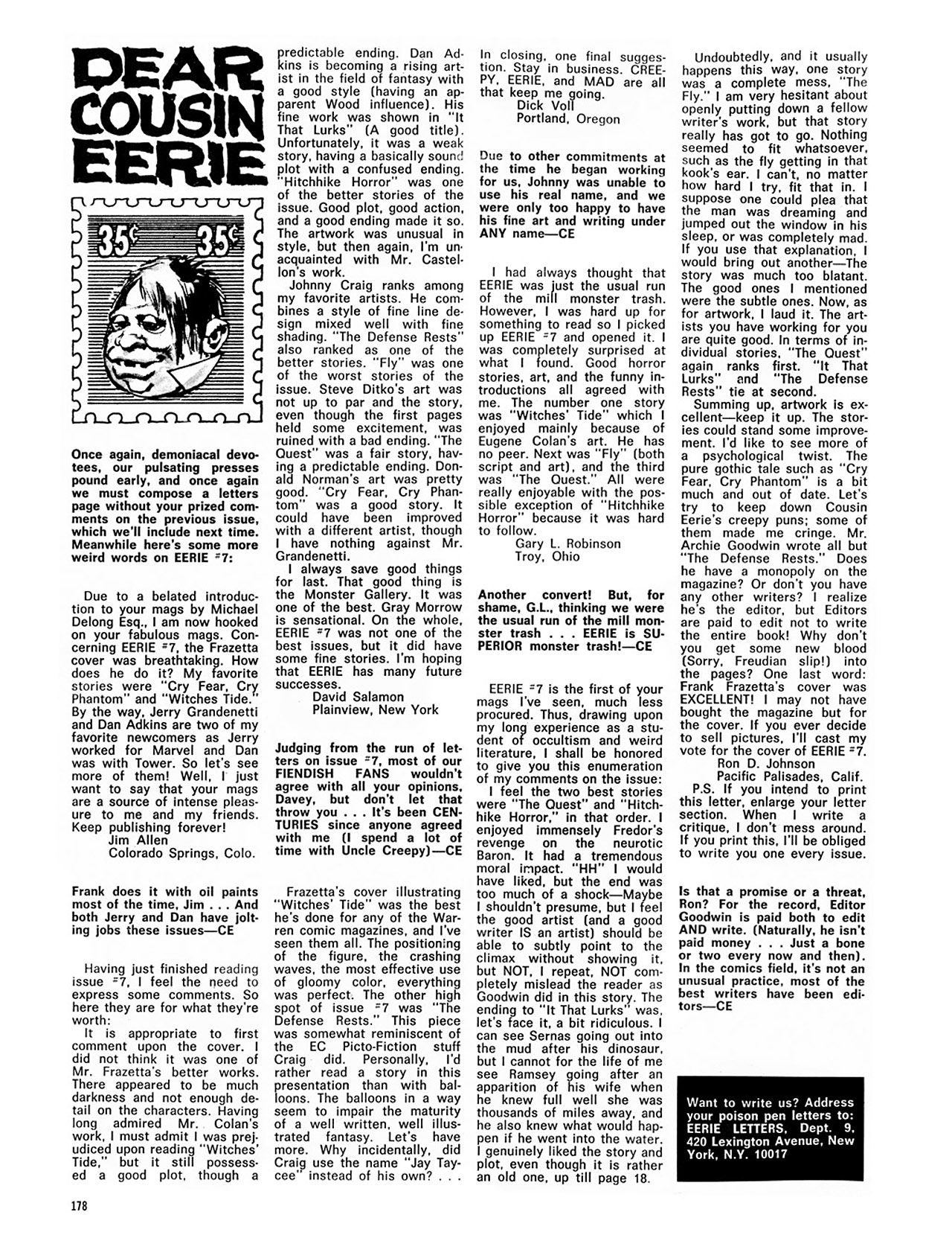 Read online Eerie Archives comic -  Issue # TPB 2 - 179