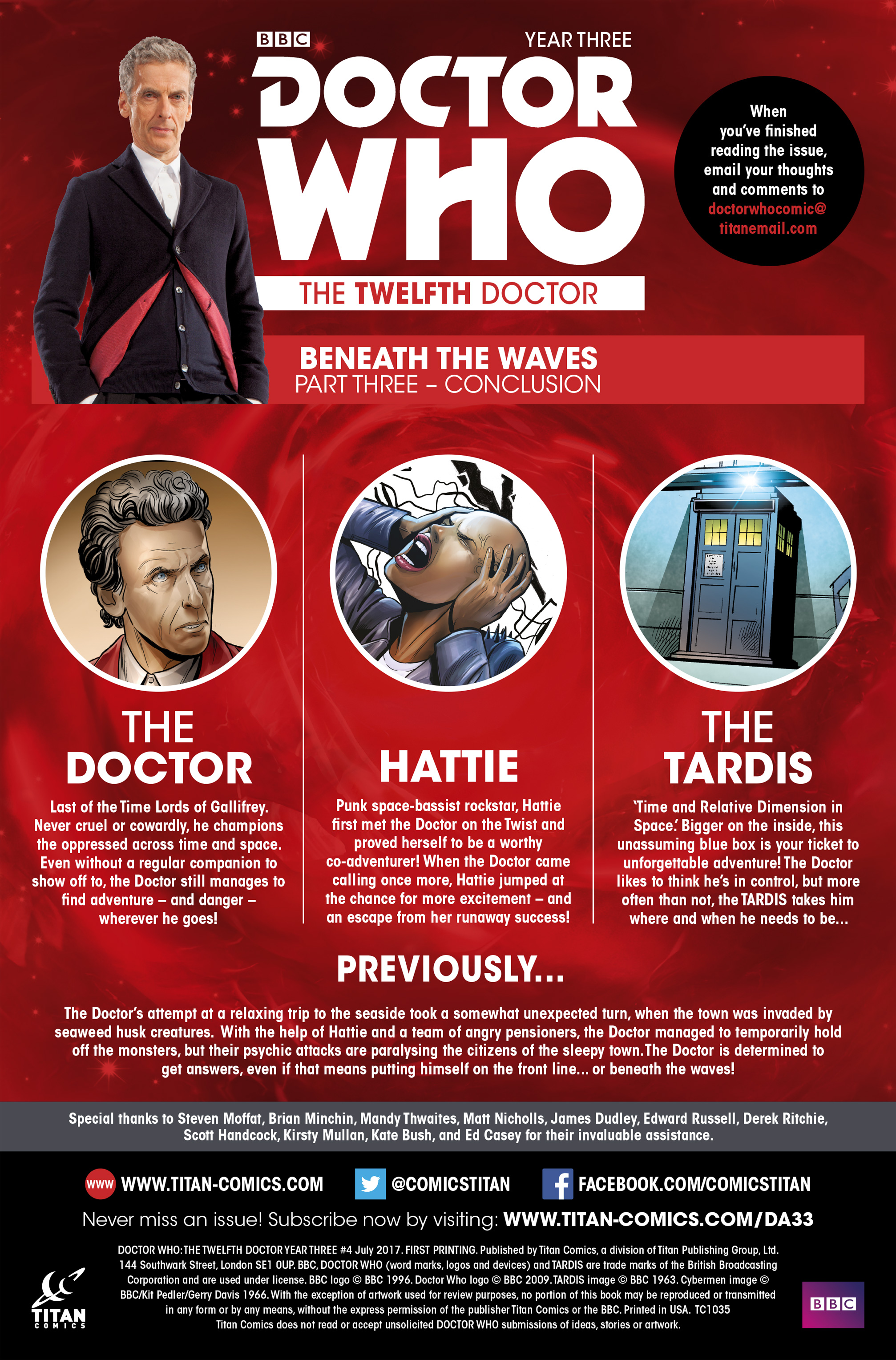 Read online Doctor Who: The Twelfth Doctor Year Three comic -  Issue #4 - 5