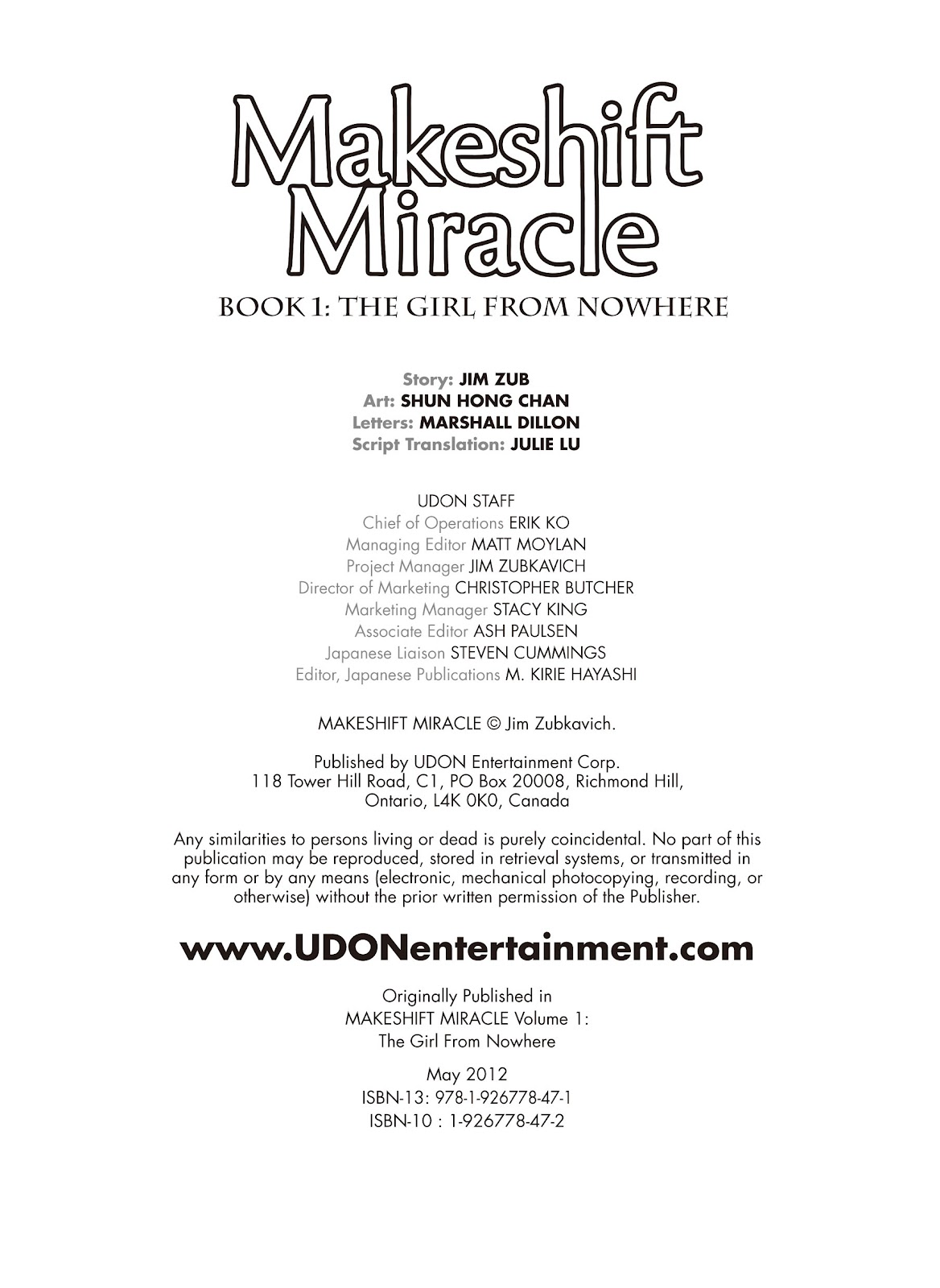Read online Makeshift Miracle: The Girl From Nowhere comic -  Issue #2 - 2