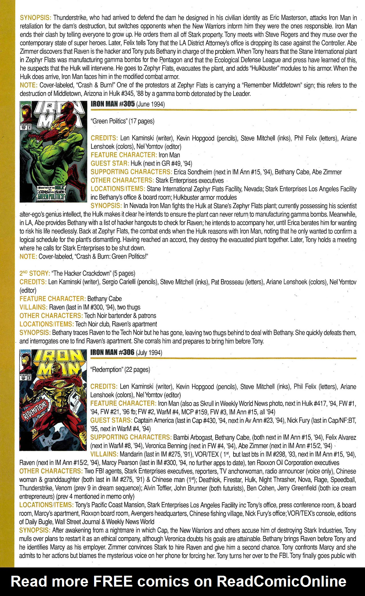 Read online Official Index to the Marvel Universe comic -  Issue #9 - 26