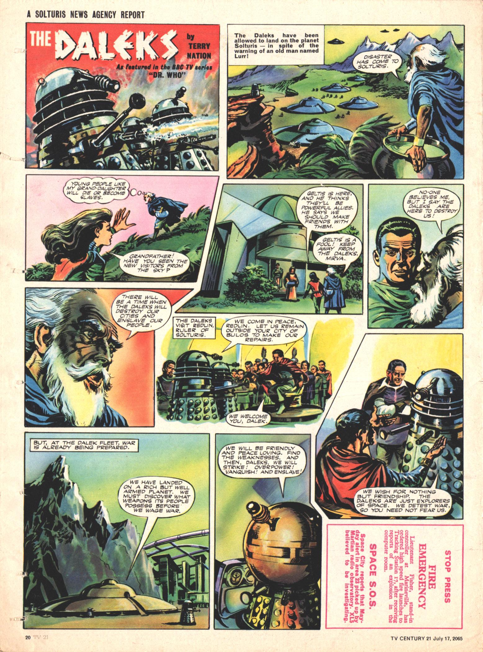 Read online TV Century 21 (TV 21) comic -  Issue #26 - 19