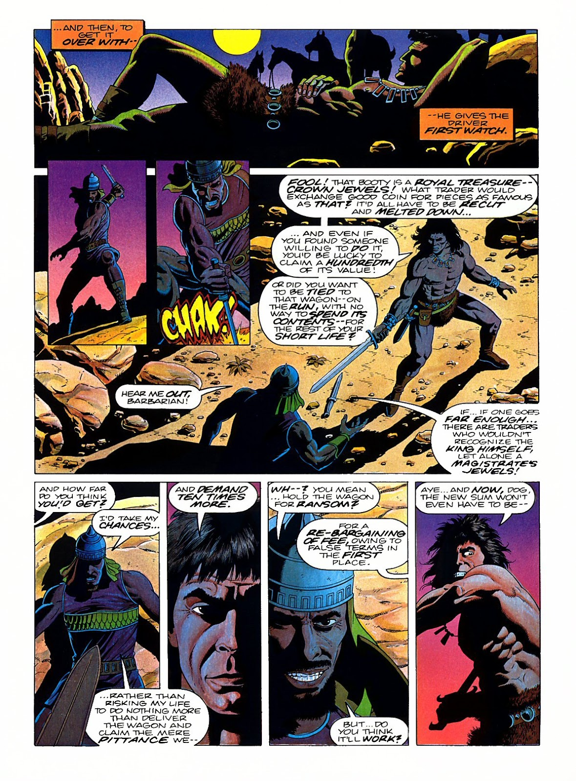Read online Marvel Graphic Novel: Conan the Barbarian: The Skull of Set comic -  Issue # Full - 16