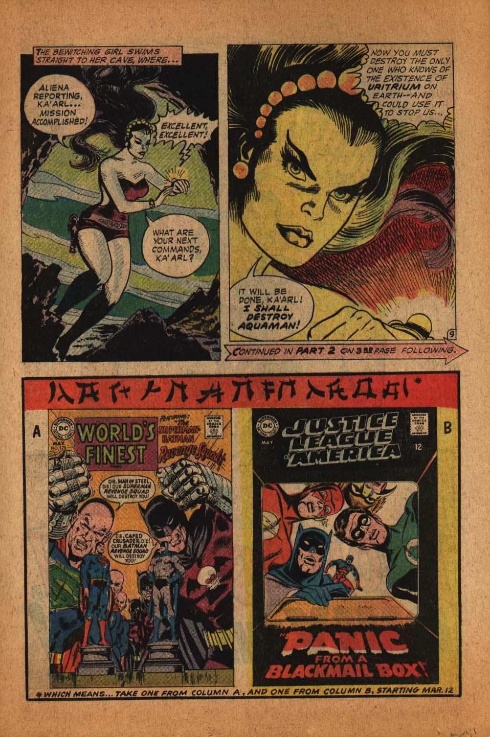 Read online Aquaman (1962) comic -  Issue #39 - 13