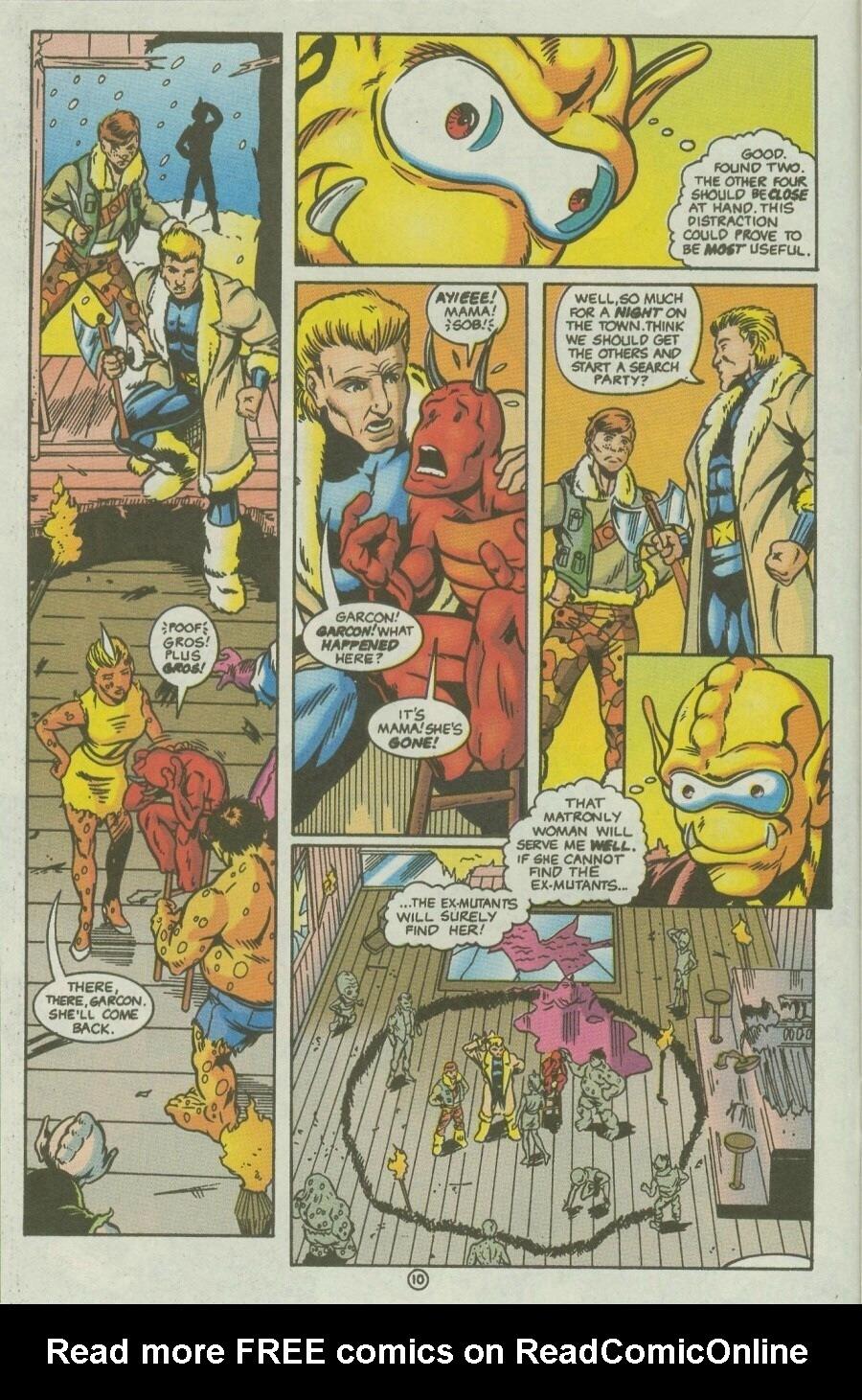 Read online Ex-Mutants comic -  Issue #10 - 13
