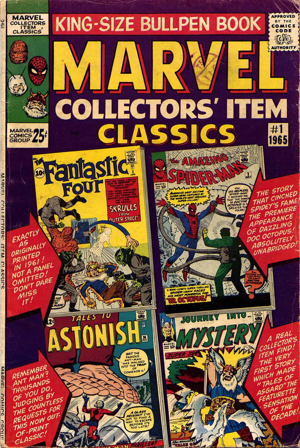 Marvel Collectors Item Classics 1 Page 1