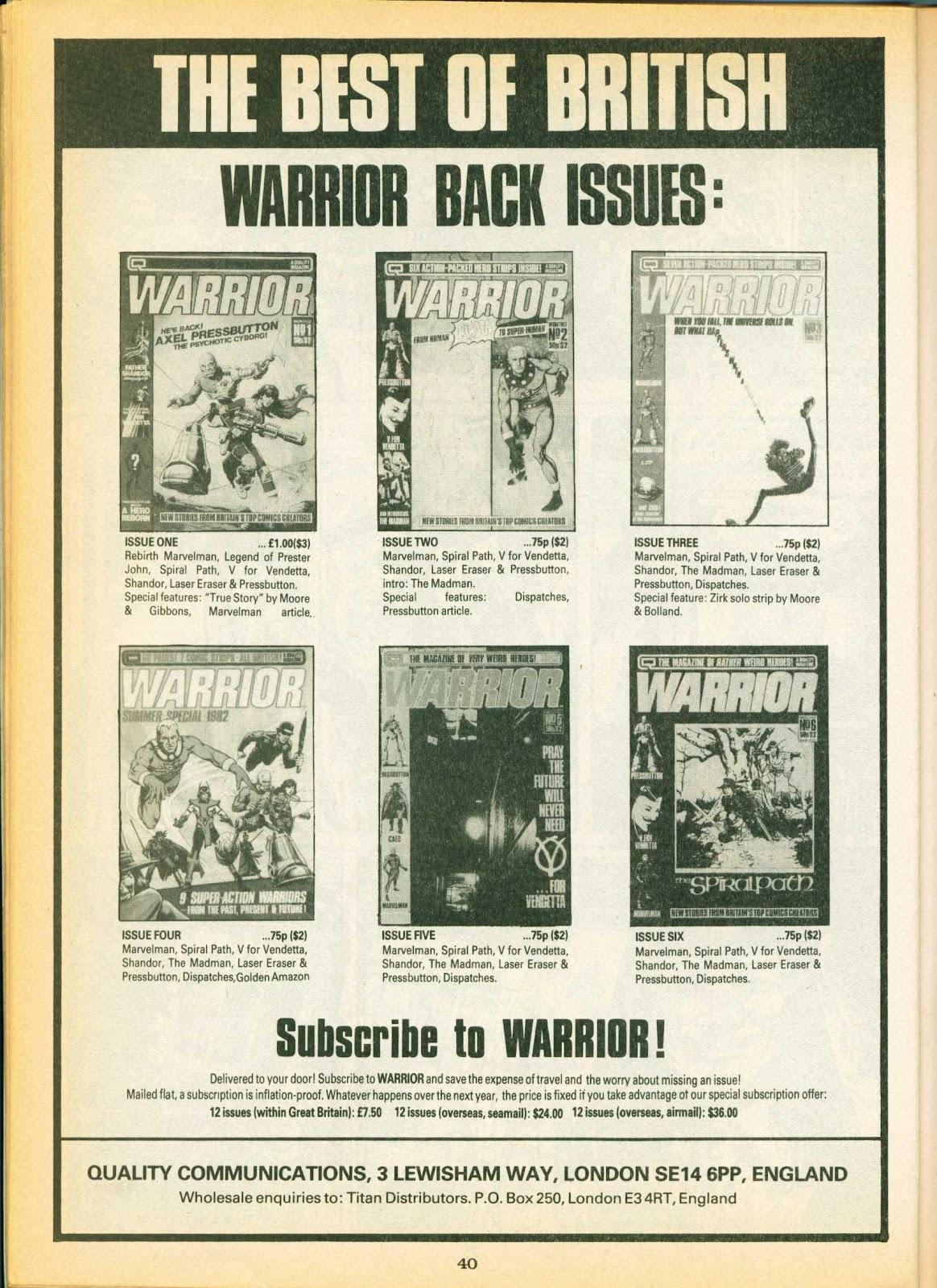 Warrior Issue #7 #8 - English 40