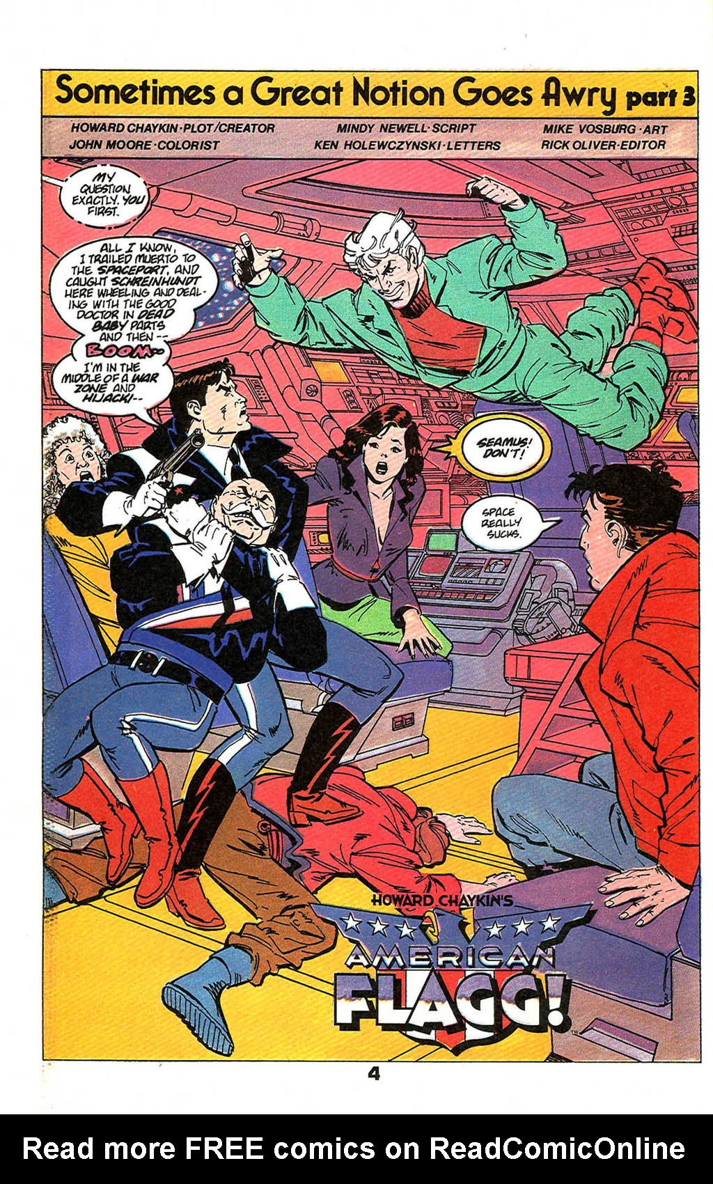 Read online American Flagg! comic -  Issue #49 - 6