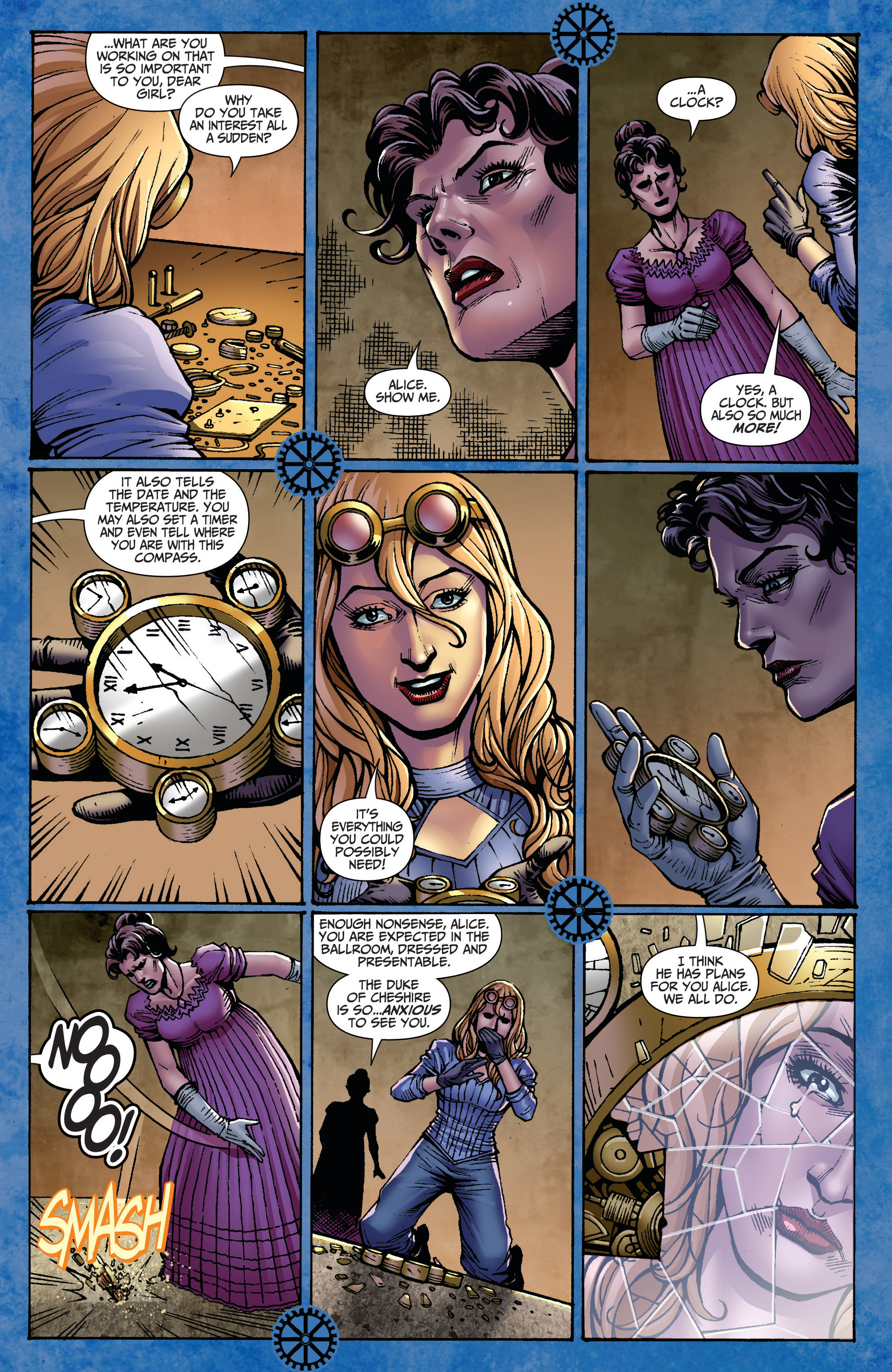 Read online Steampunk: Alice in Wonderland comic -  Issue # Full - 7