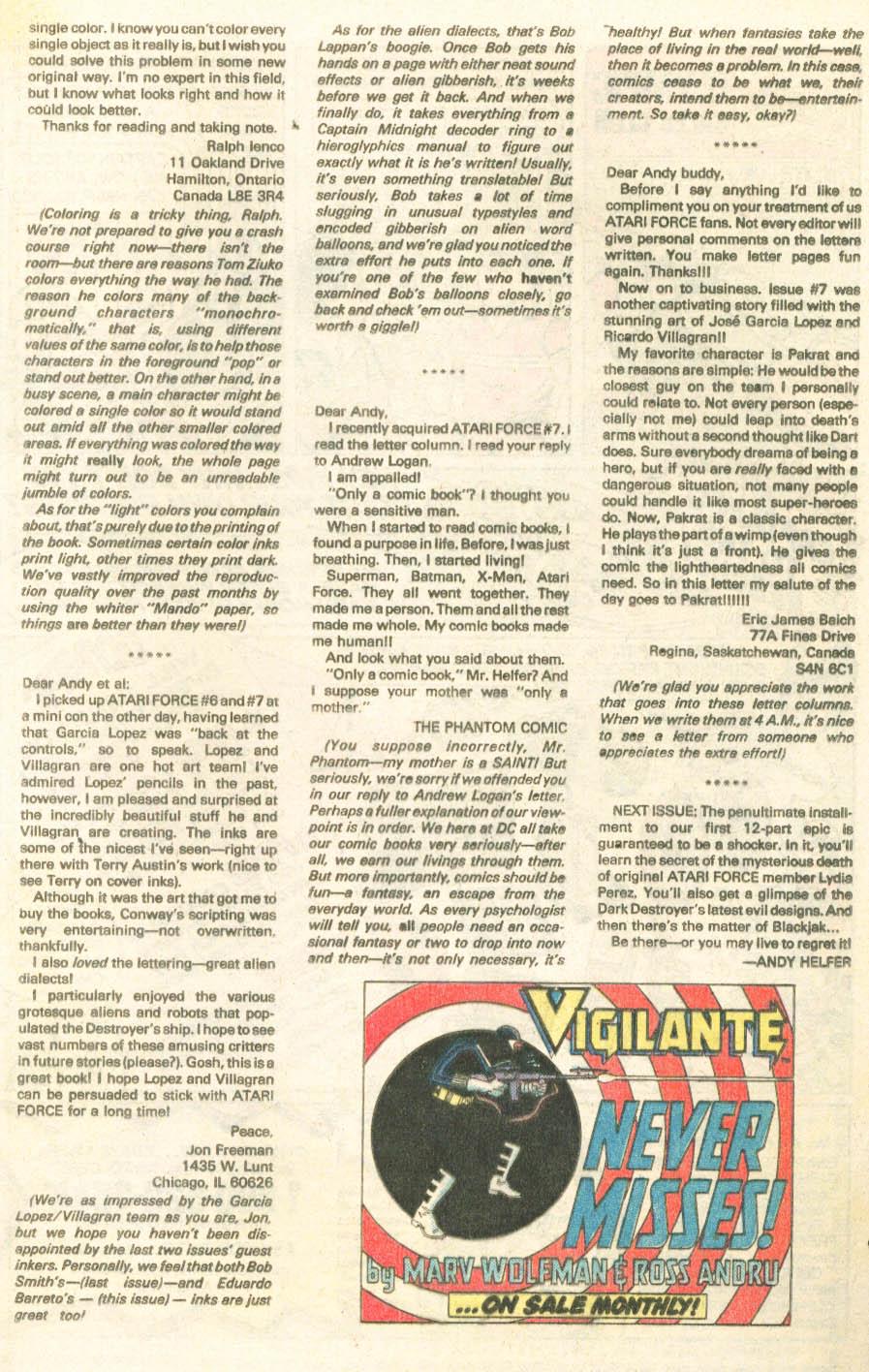 Atari Force (1984) 10 Page 28