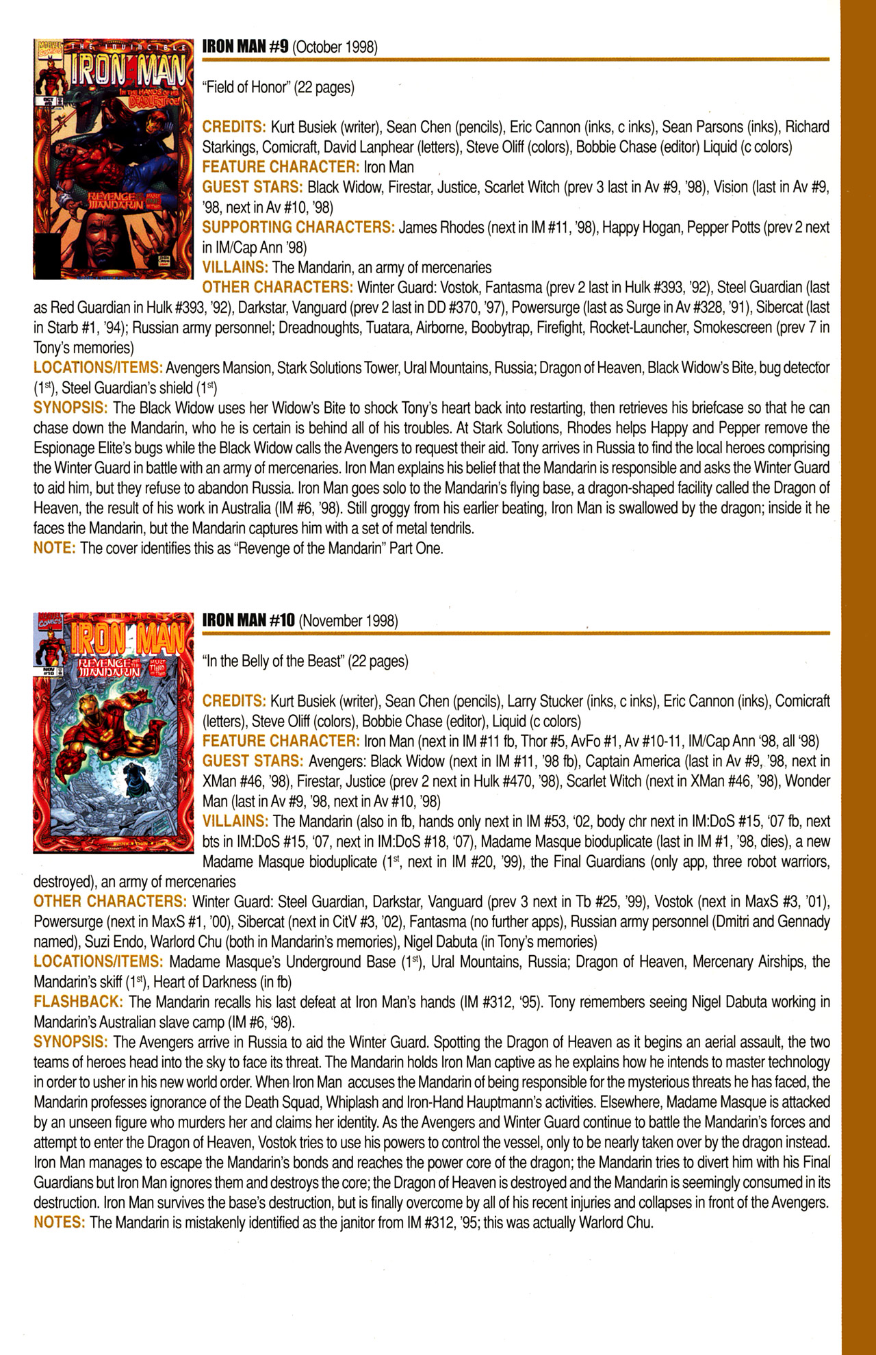 Read online Official Index to the Marvel Universe comic -  Issue #10 - 31
