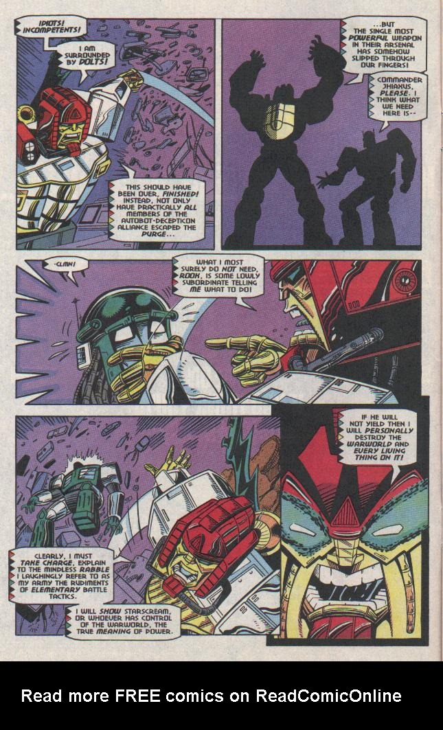 Read online Transformers: Generation 2 comic -  Issue #11 - 6