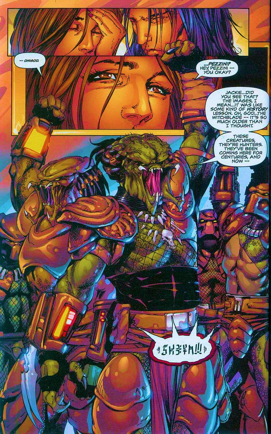 Read online Overkill: Witchblade/Aliens/Darkness/Predator comic -  Issue #2 - 33