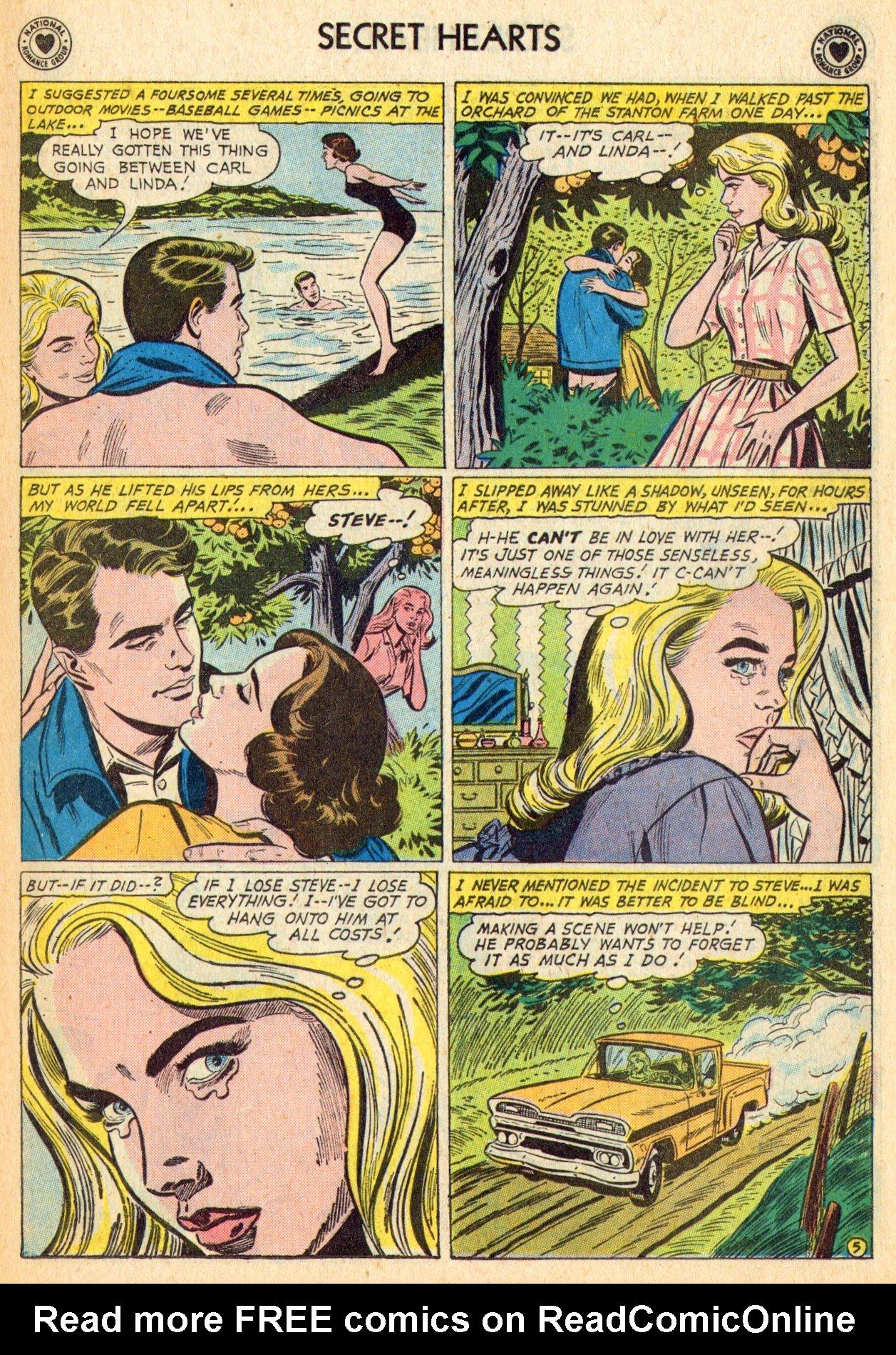 Read online Secret Hearts comic -  Issue #70 - 7