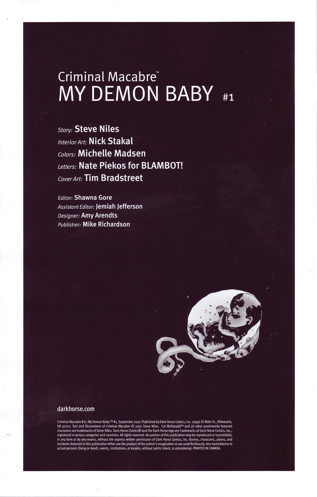 Criminal Macabre: My Demon Baby issue 1 - Page 2