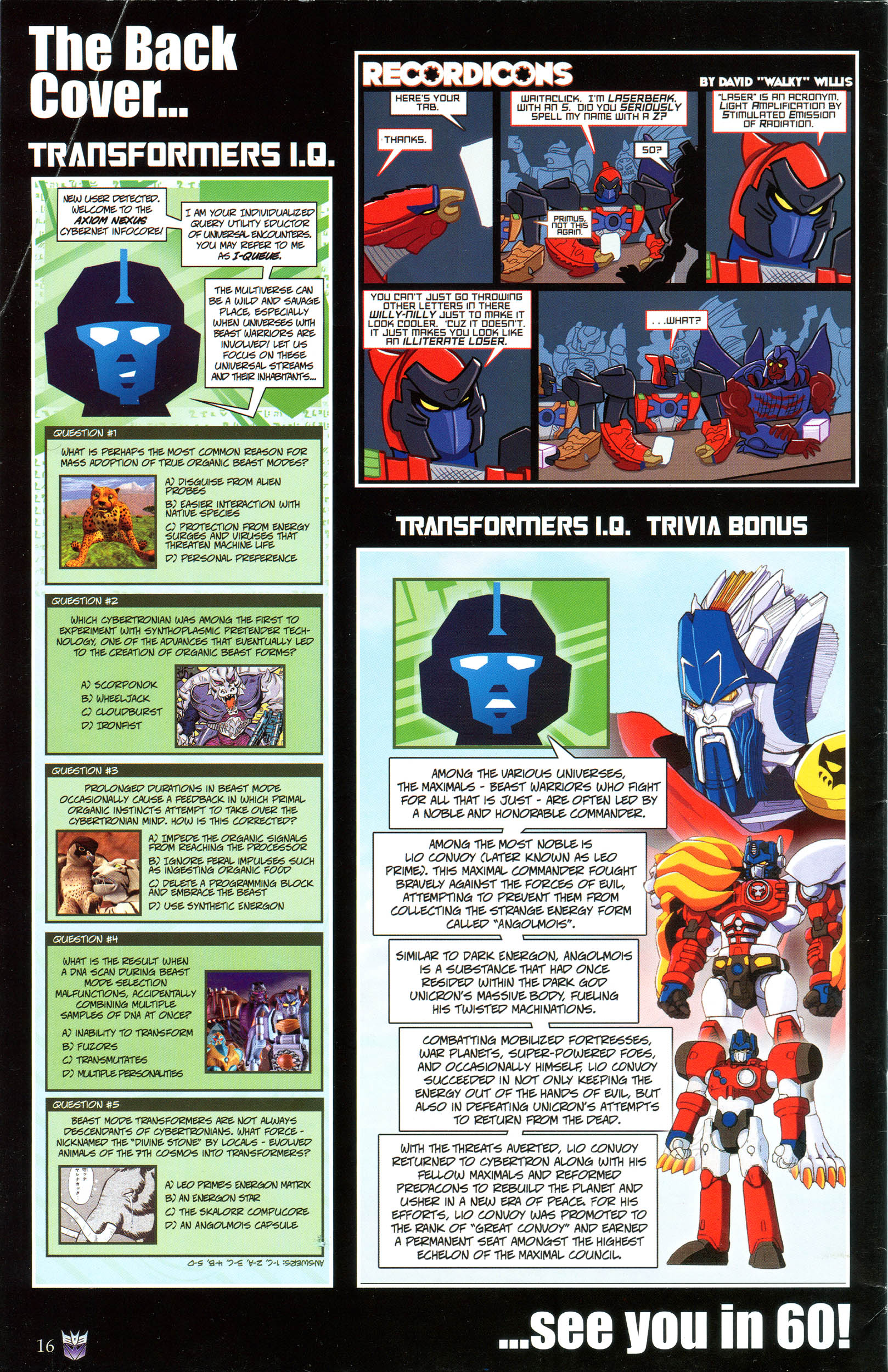 Read online Transformers: Collectors' Club comic -  Issue #49 - 16