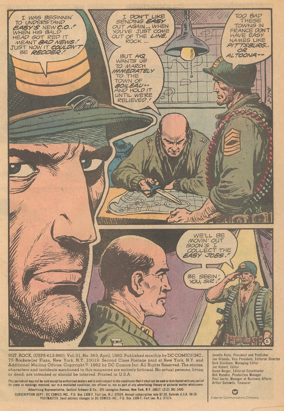 Comic Sgt  Rock issue 62