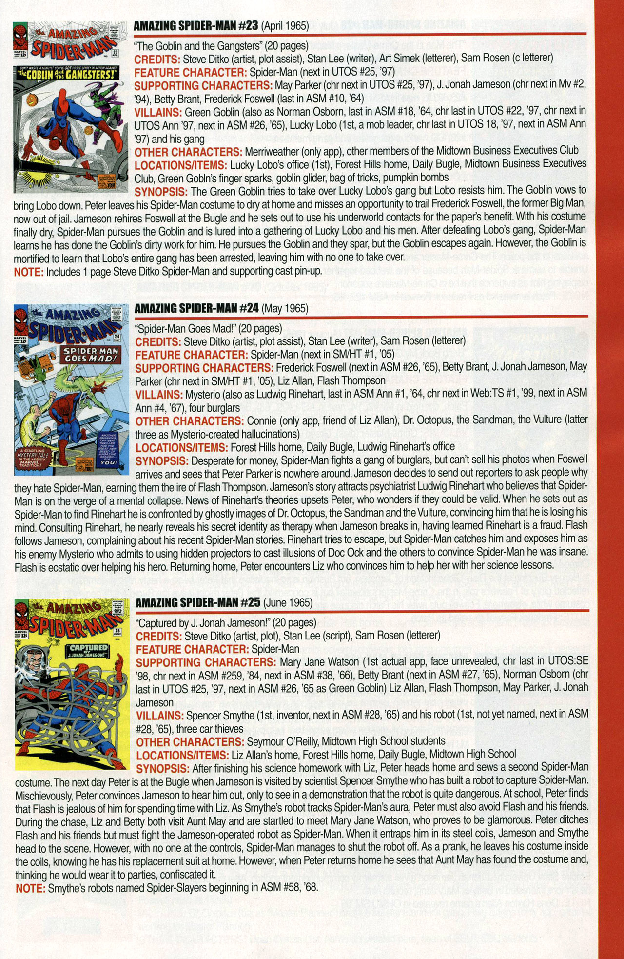 Read online Official Index to the Marvel Universe comic -  Issue #1 - 13