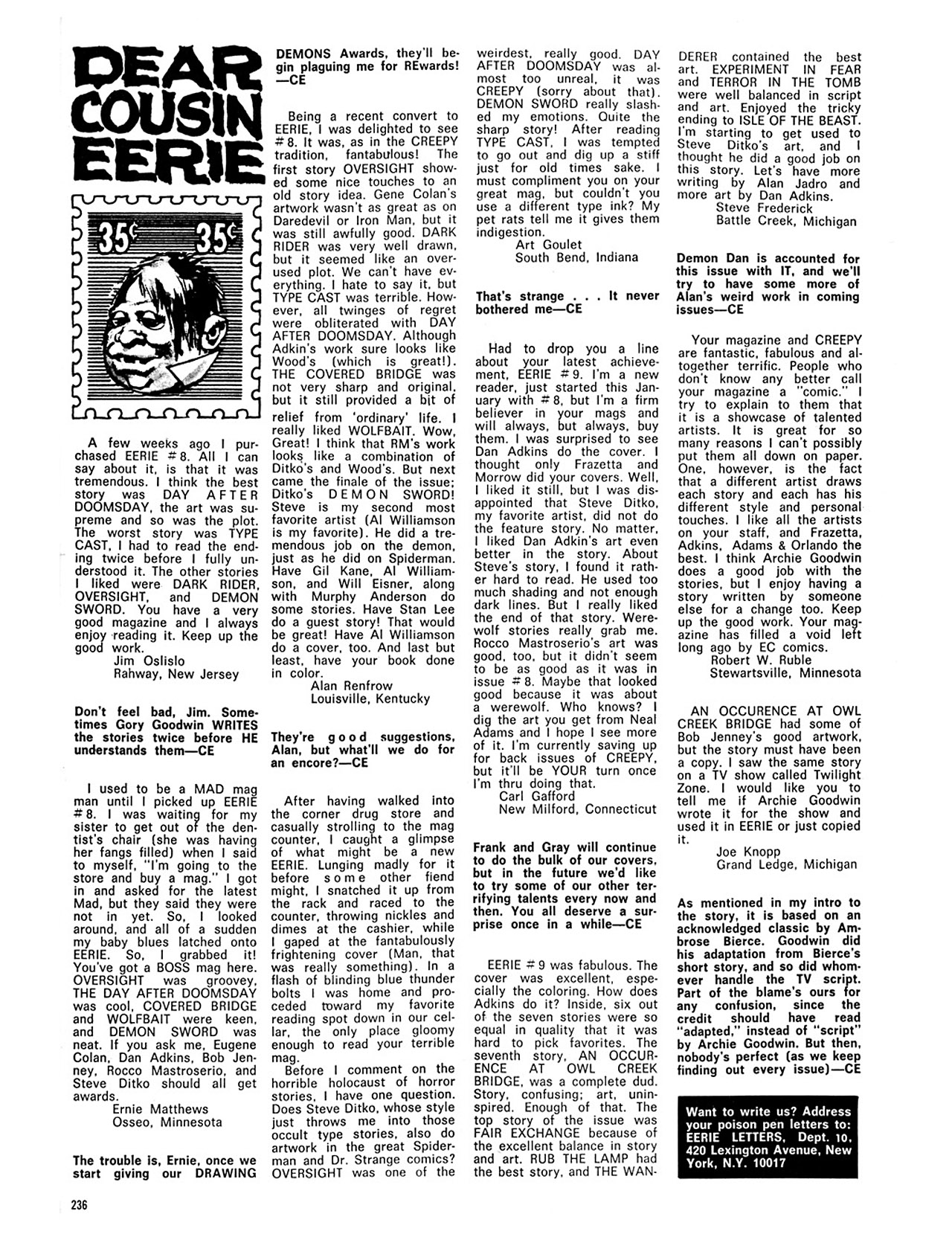 Read online Eerie Archives comic -  Issue # TPB 2 - 237