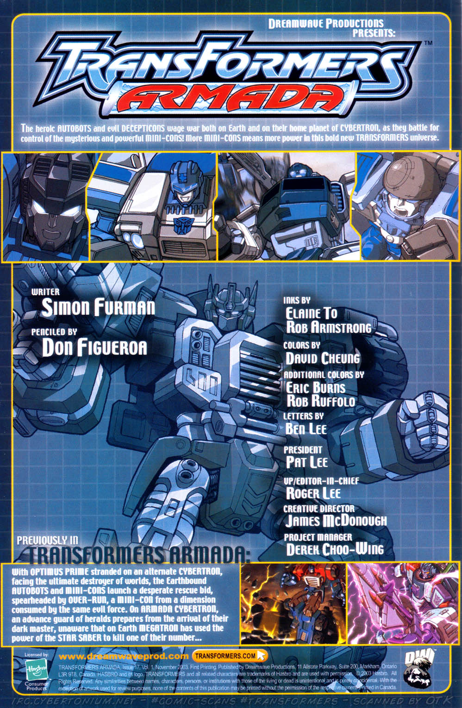 Read online Transformers Armada comic -  Issue #17 - 2