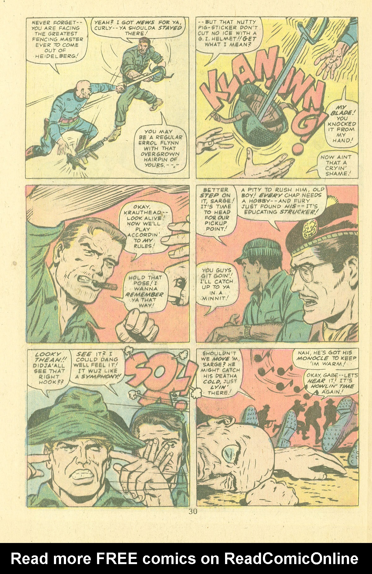 Read online Sgt. Fury comic -  Issue #124 - 32