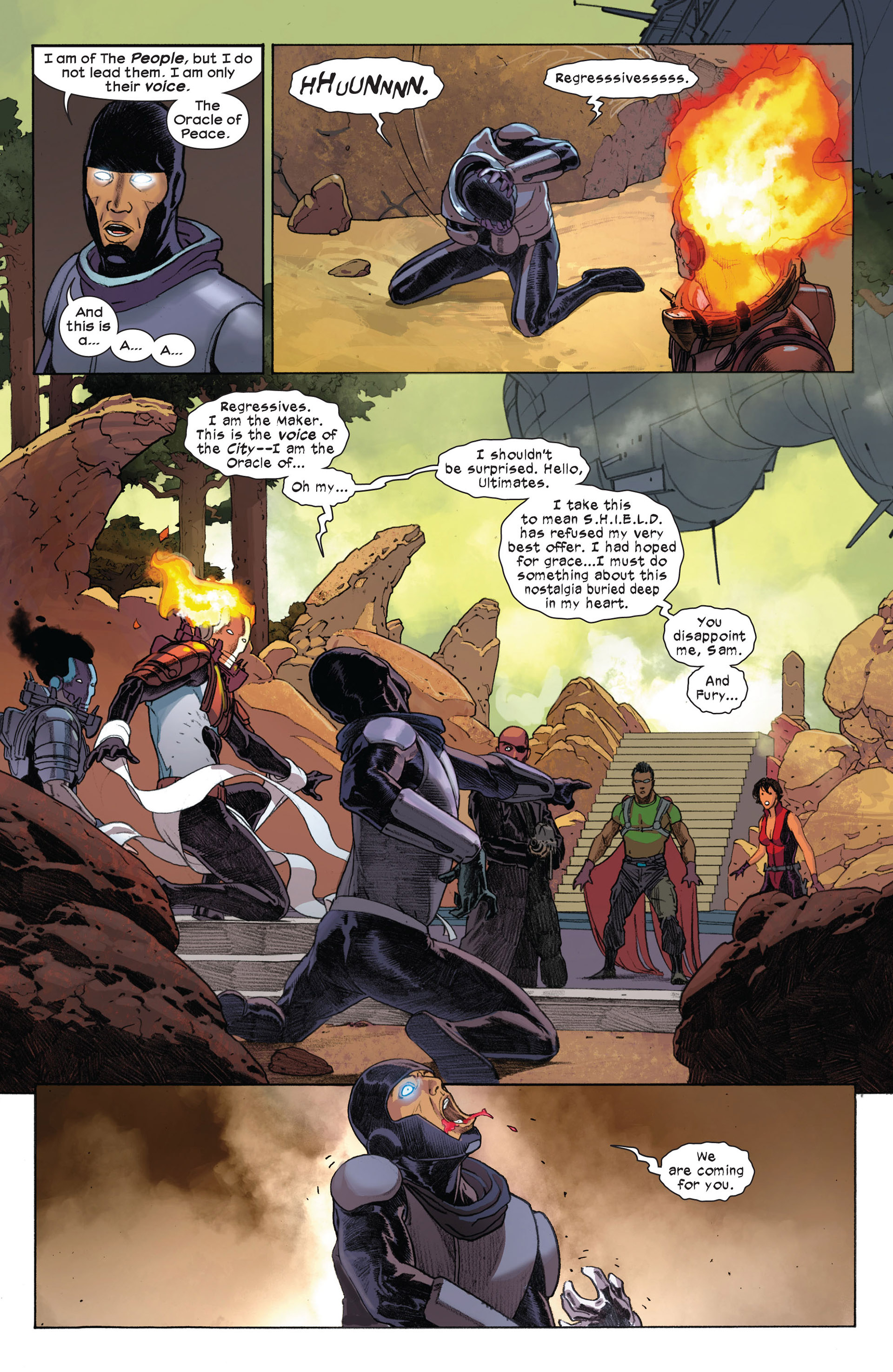 Read online Ultimate Comics Ultimates comic -  Issue #7 - 14