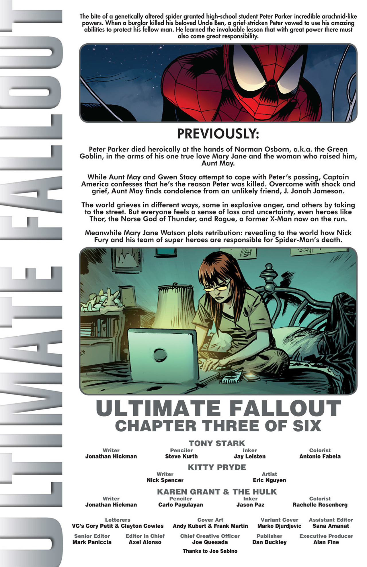 Read online Ultimate Fallout comic -  Issue #3 - 2