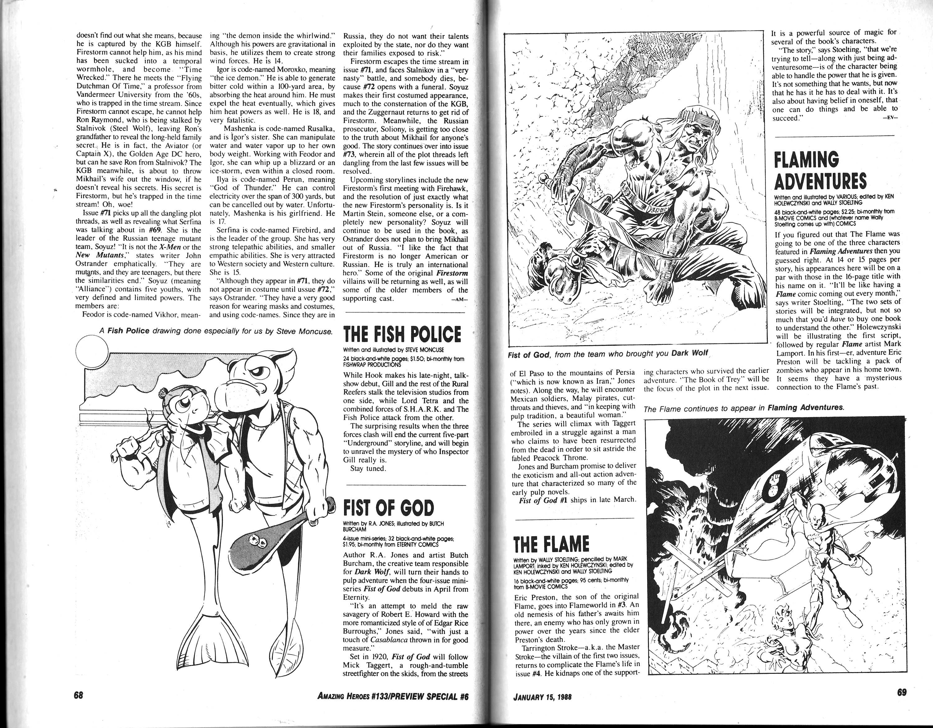Read online Amazing Heroes comic -  Issue #133 - 36