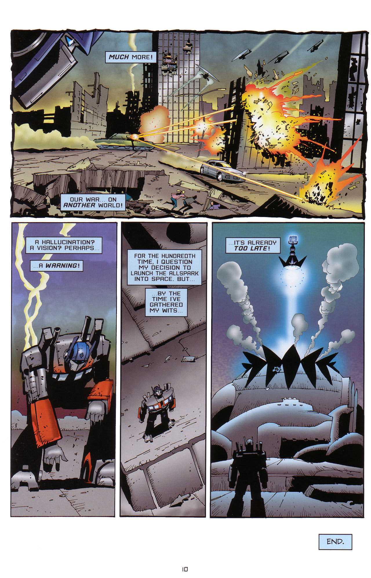 Read online Transformers: Saga of the Allspark comic -  Issue #1 - 11
