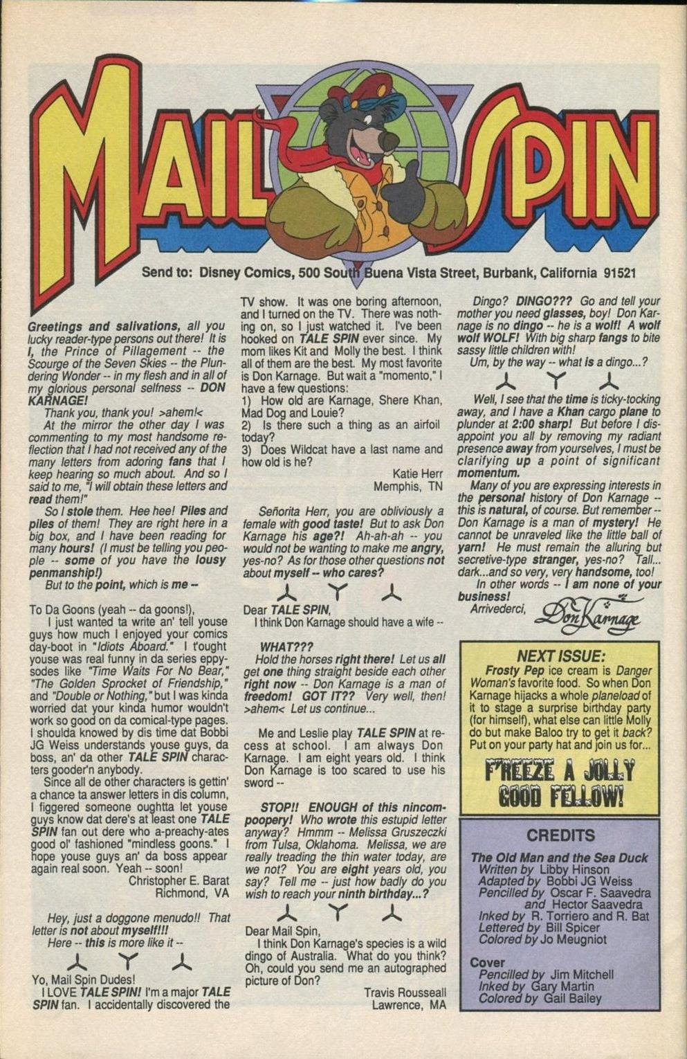 Read online Disney's Tale Spin comic -  Issue #5 - 29