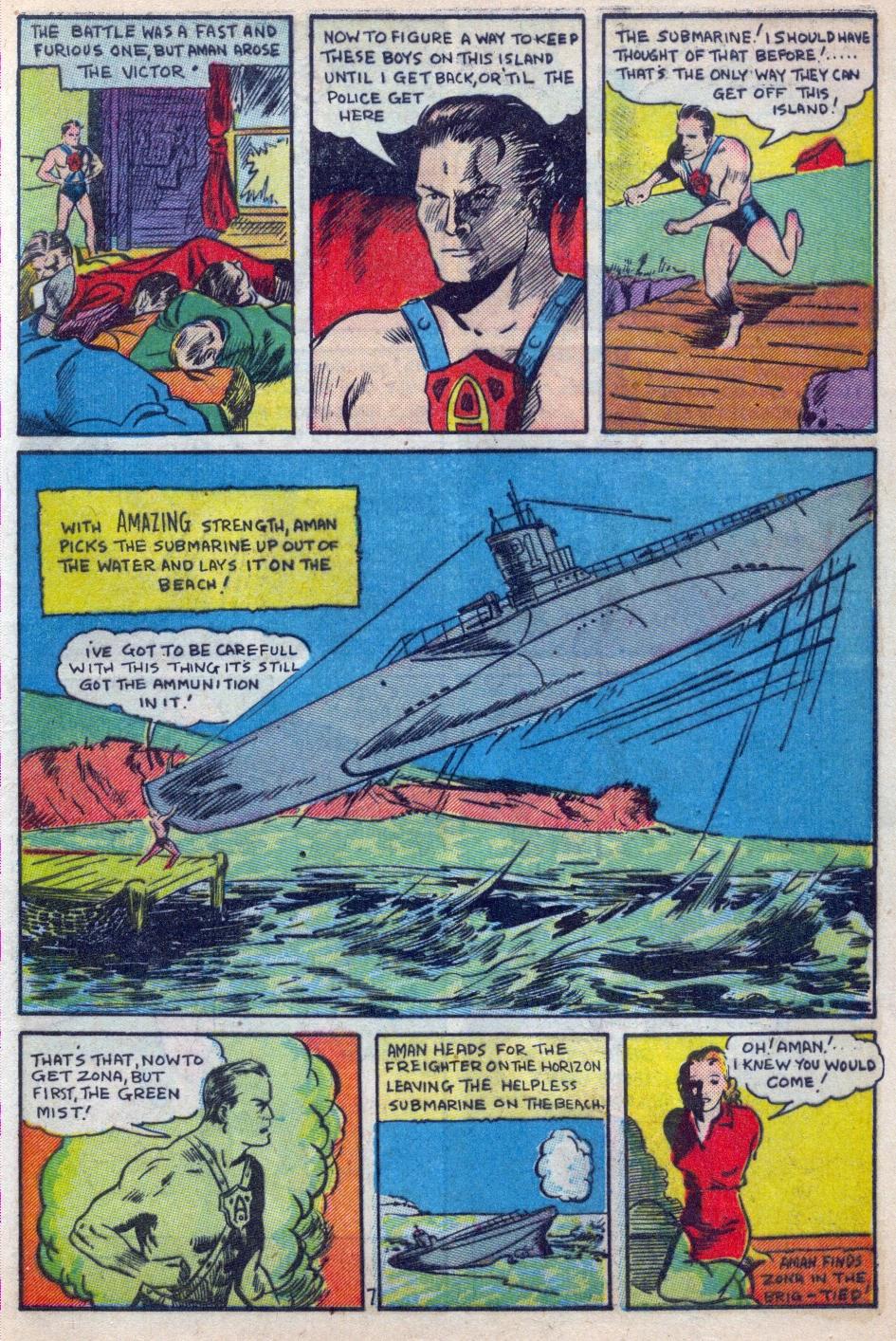 Read online Amazing Man Comics comic -  Issue #15 - 8