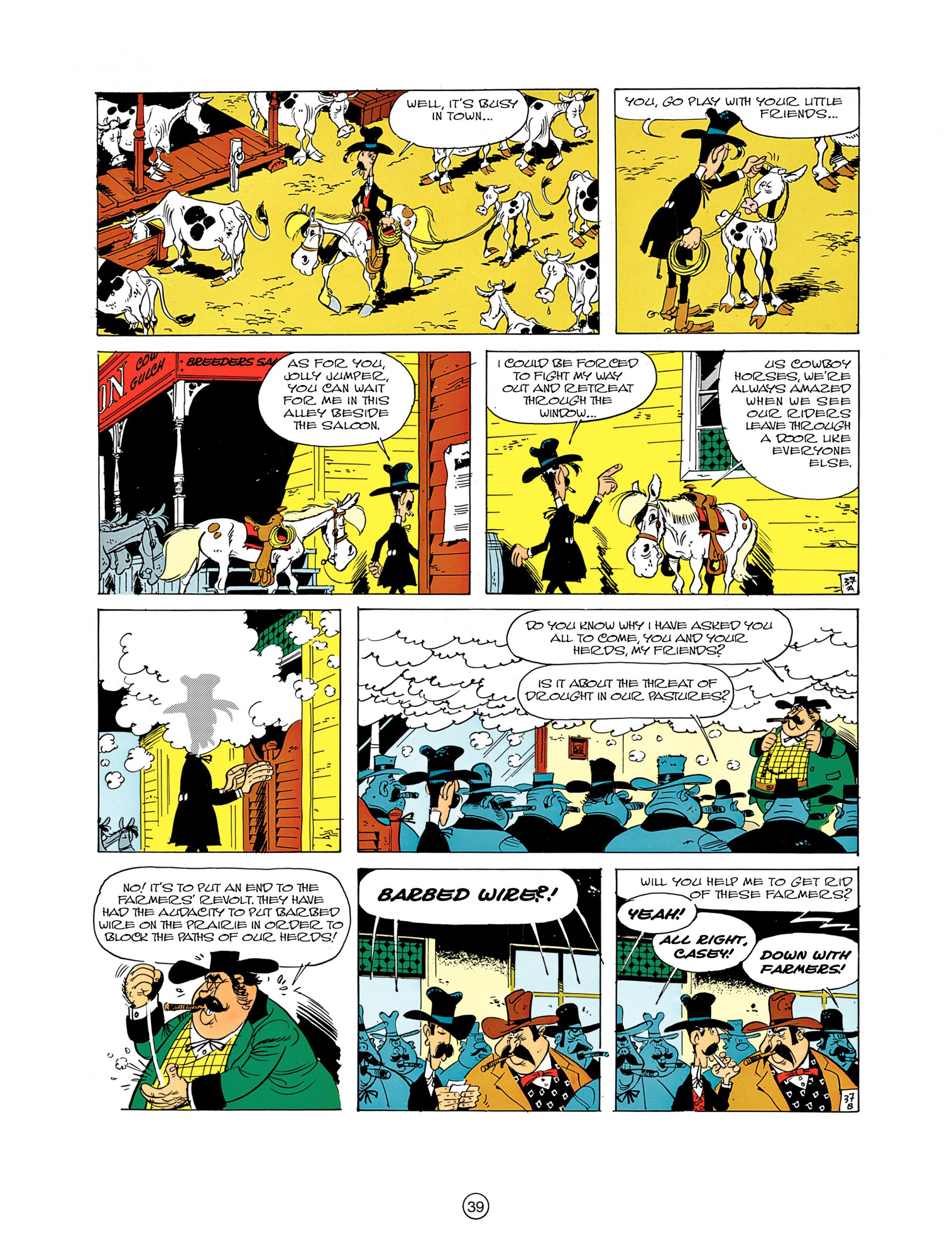 Read online A Lucky Luke Adventure comic -  Issue #7 - 39