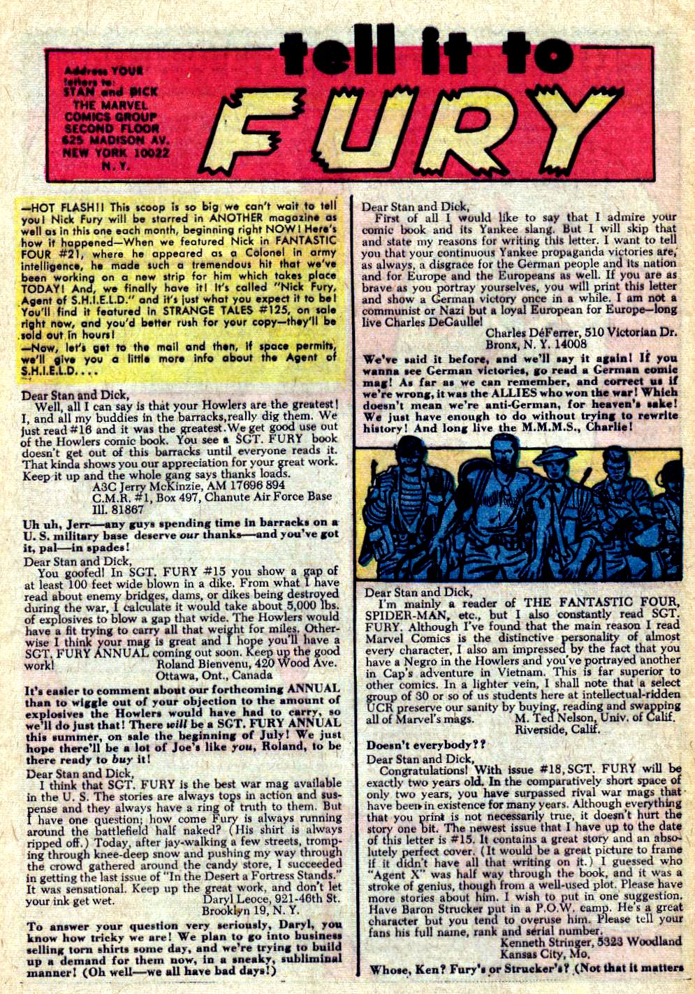 Read online Sgt. Fury comic -  Issue #20 - 32