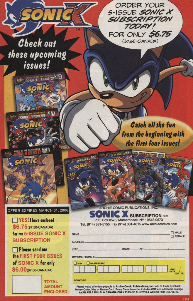 Read online Sonic X comic -  Issue #5 - 7