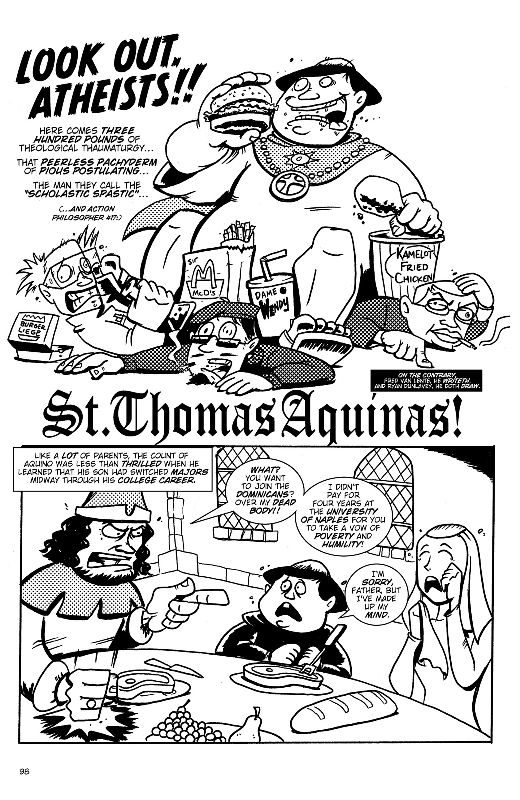 Read online Action Philosophers! comic -  Issue #Action Philosophers! TPB (Part 1) - 98