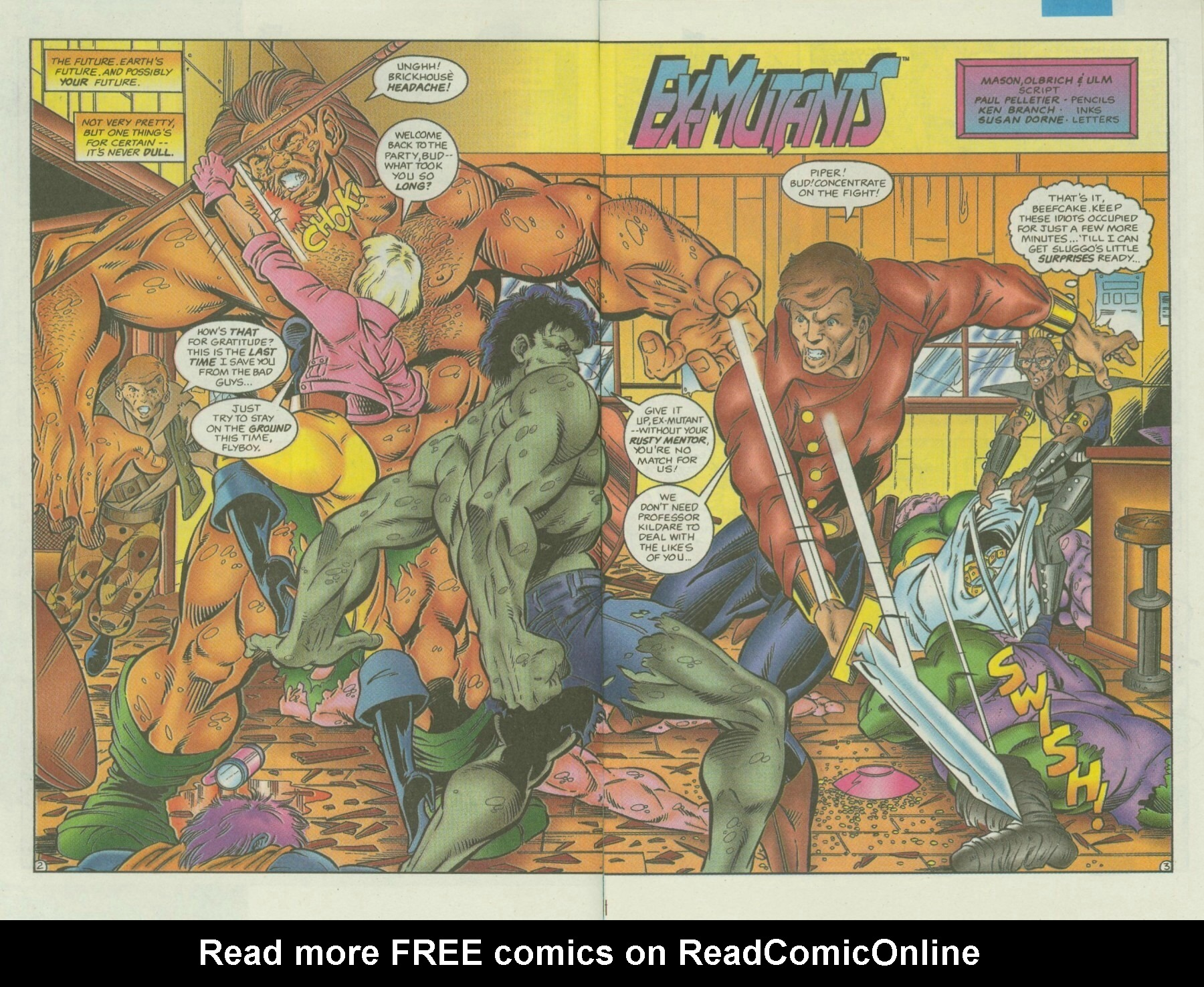 Read online Ex-Mutants comic -  Issue #3 - 4