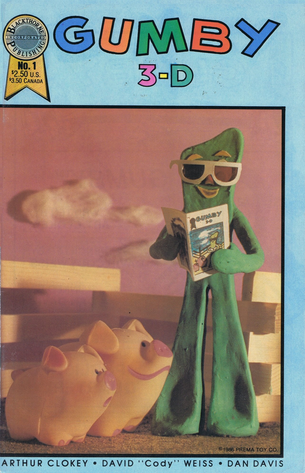 Gumby 3-D issue 1 - Page 1