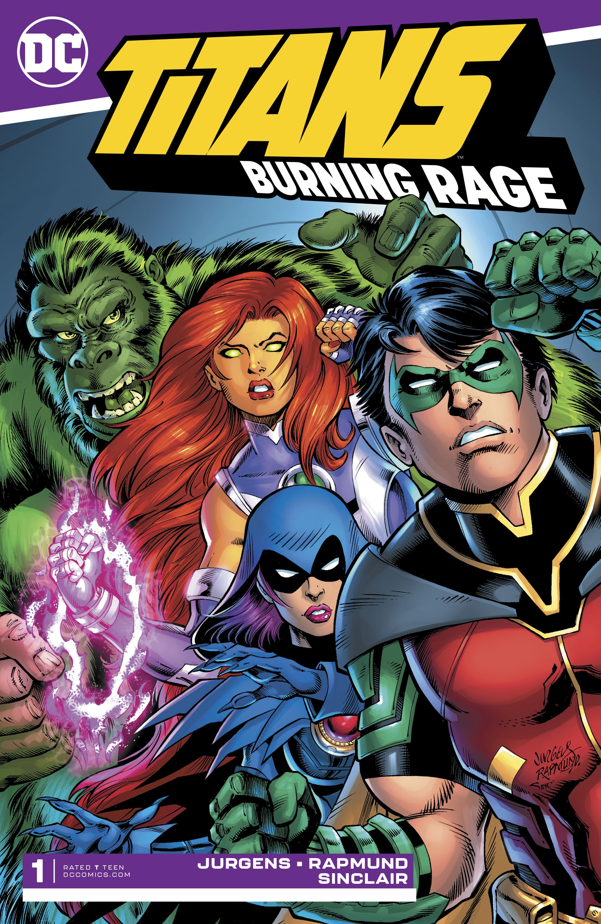 Titans: Burning Rage #1 #1 - English 1