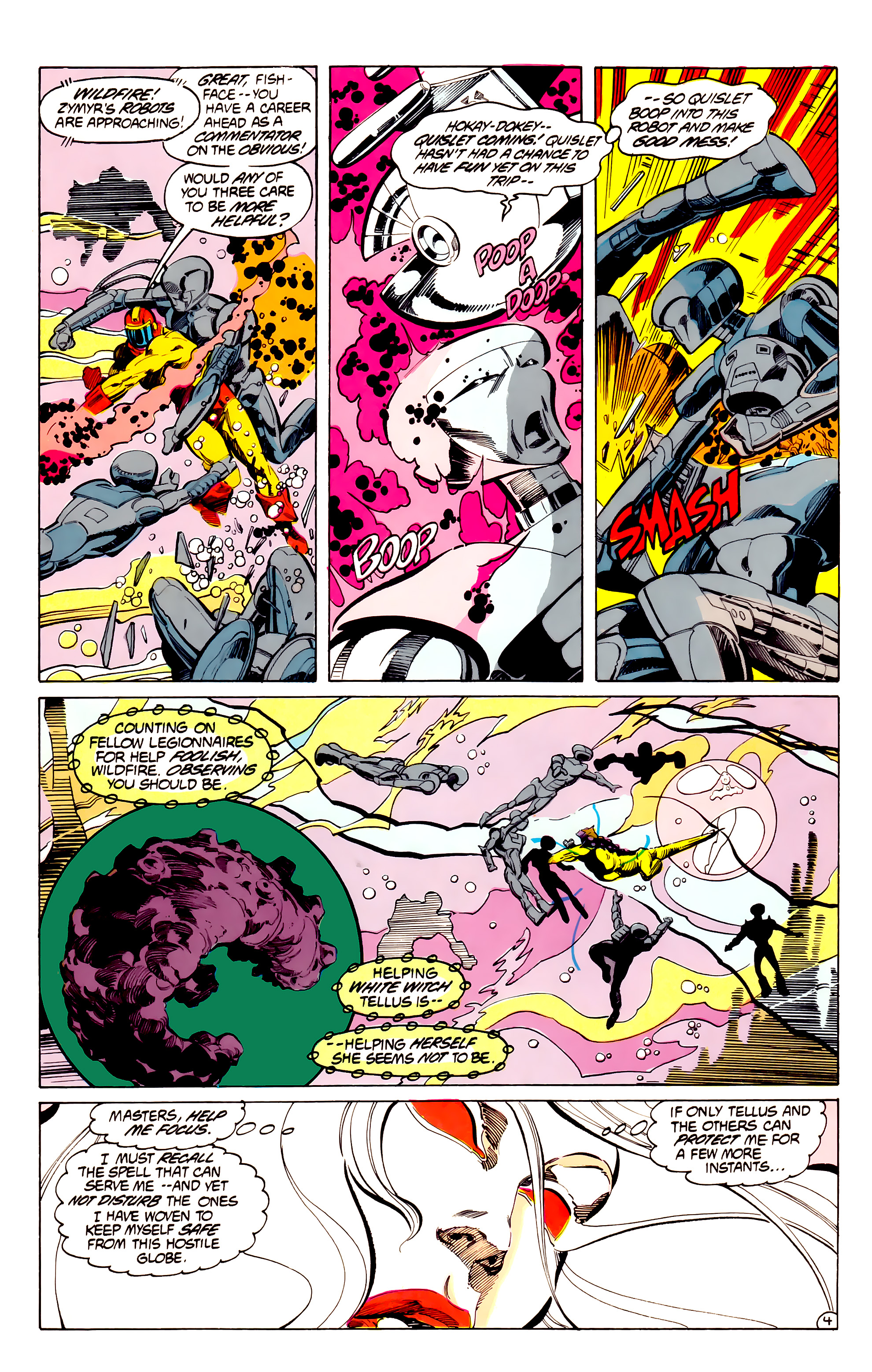 Legion of Super-Heroes (1984) 33 Page 4