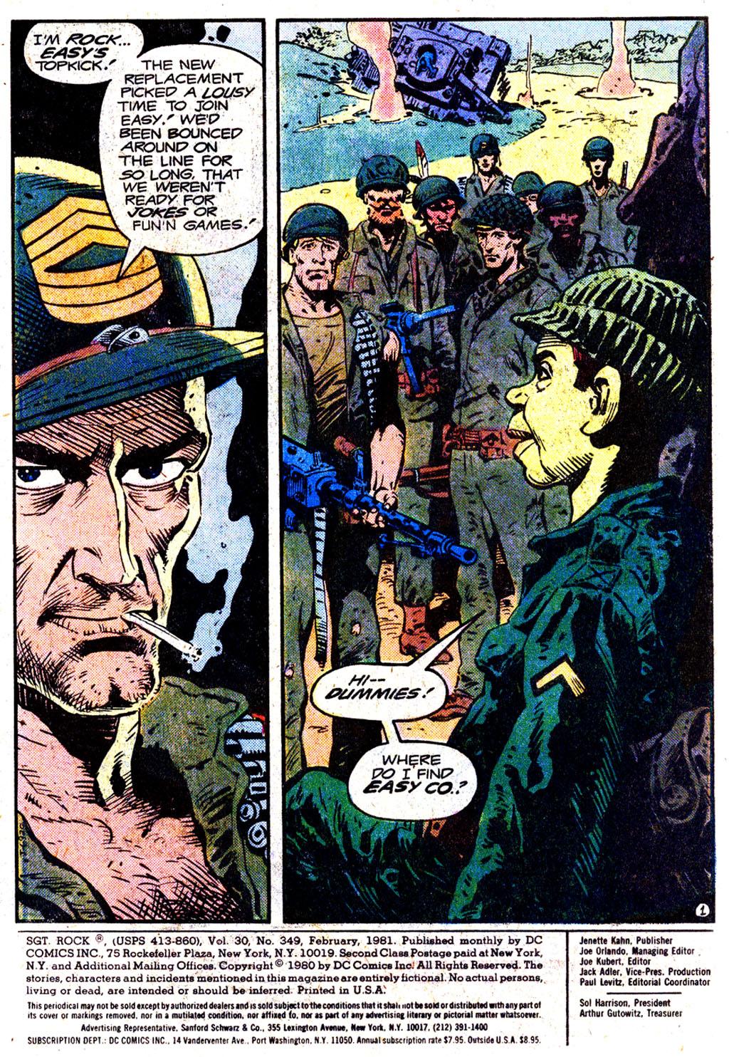 Read online Sgt. Rock comic -  Issue #349 - 2