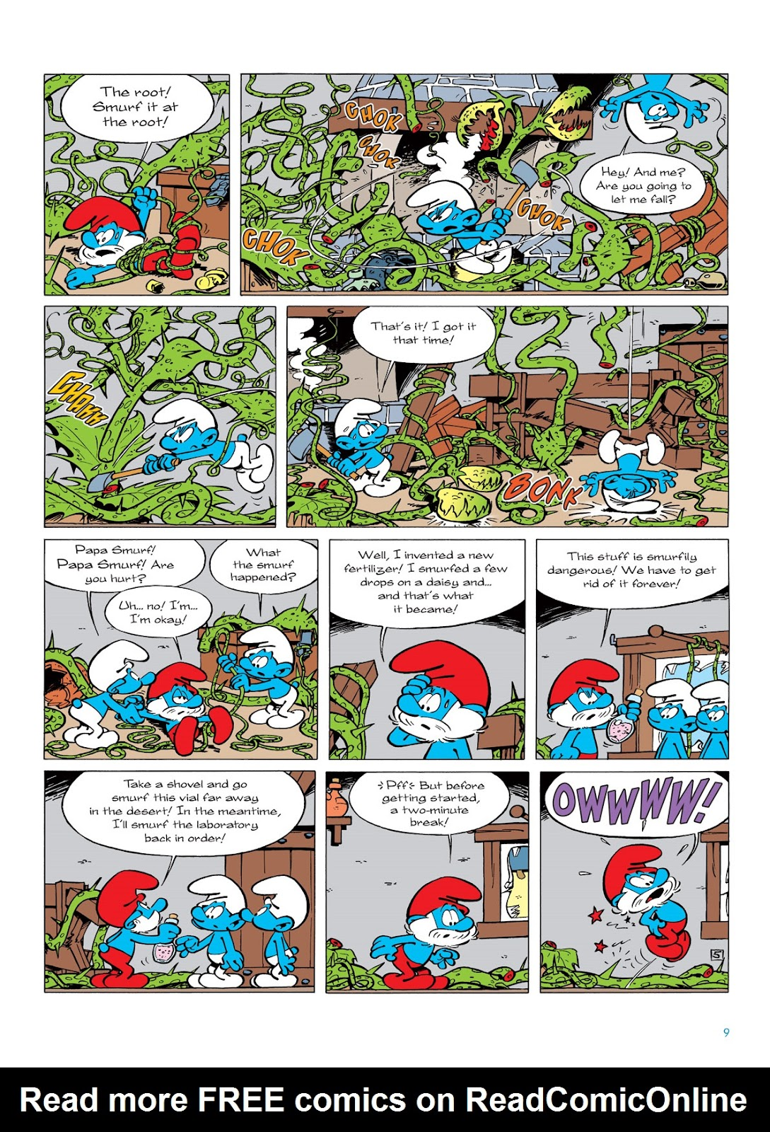 Read online The Smurfs comic -  Issue #6 - 9