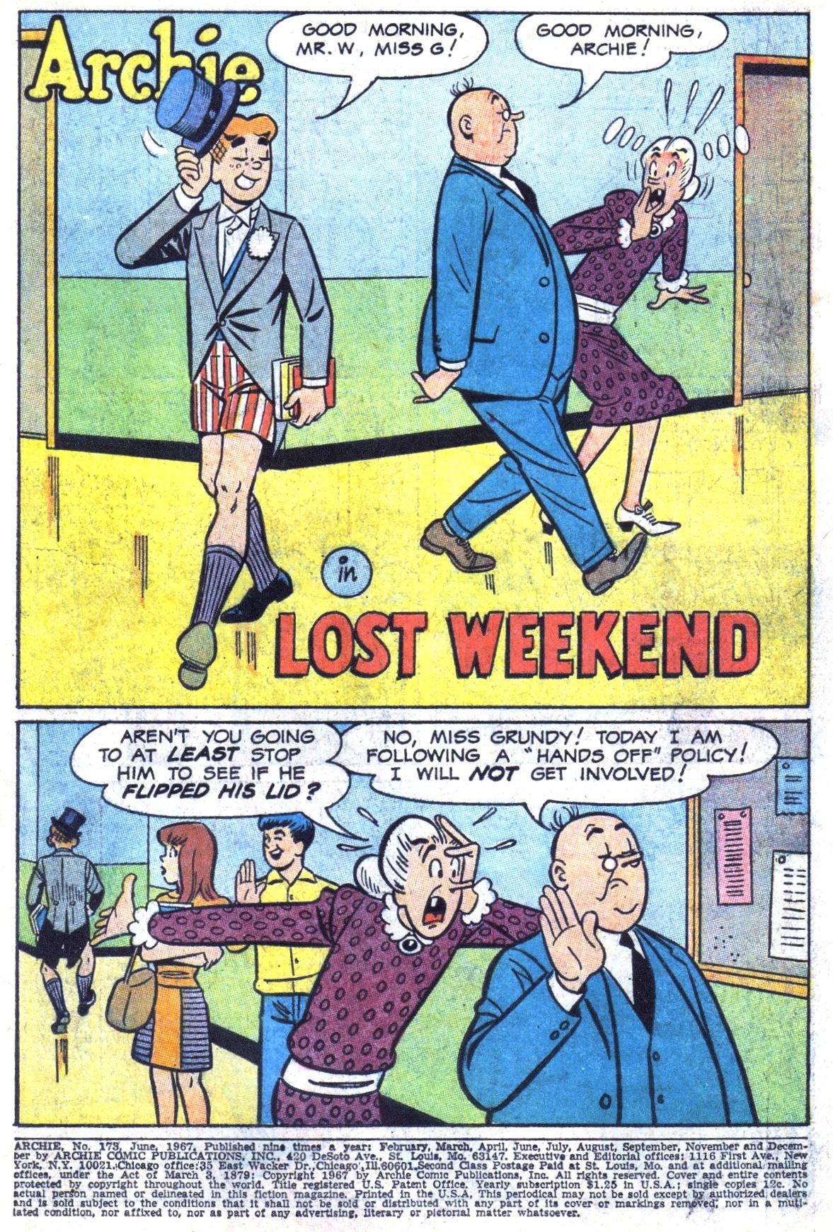 Read online Archie (1960) comic -  Issue #173 - 3