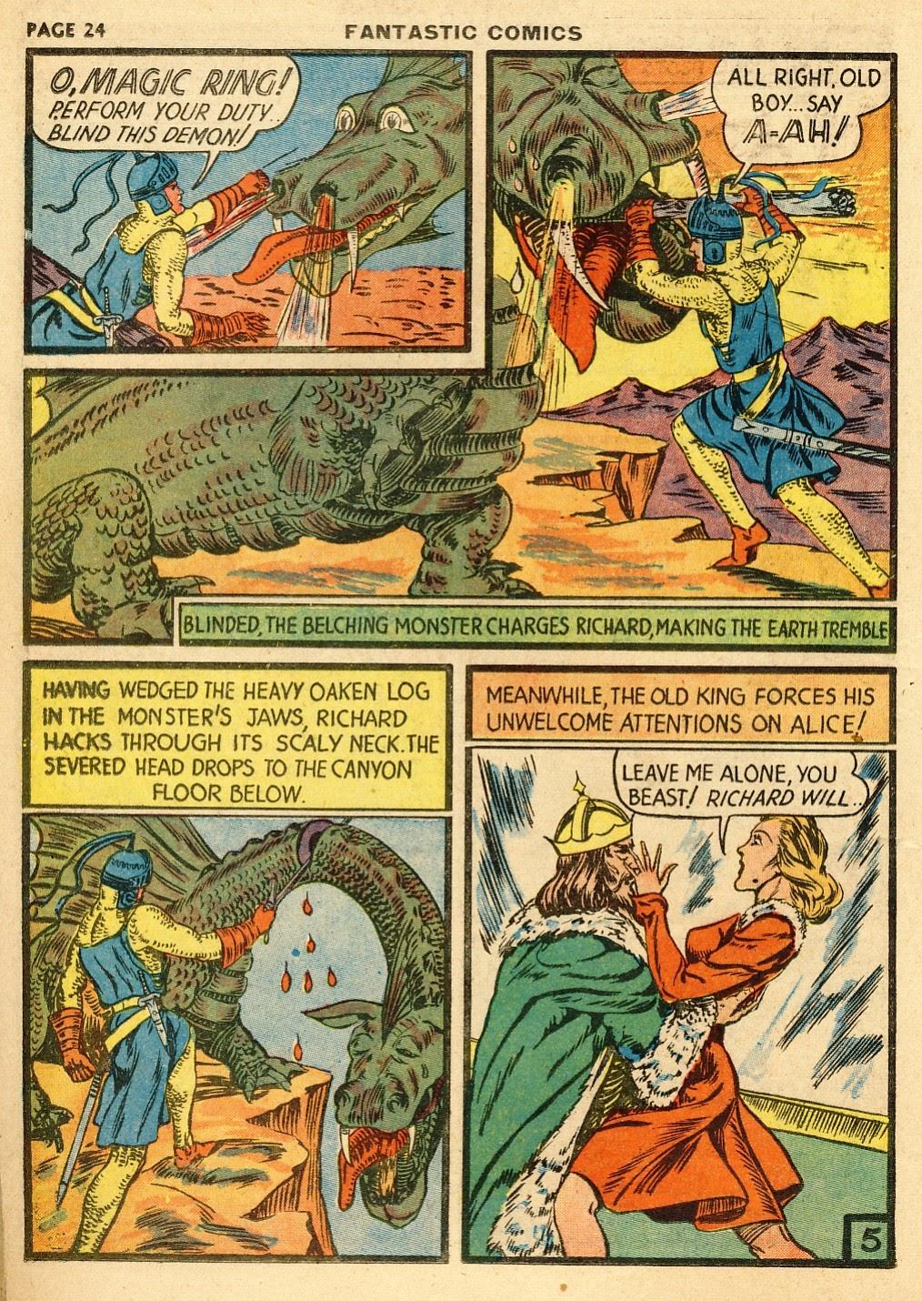 Read online Fantastic Comics comic -  Issue #10 - 25