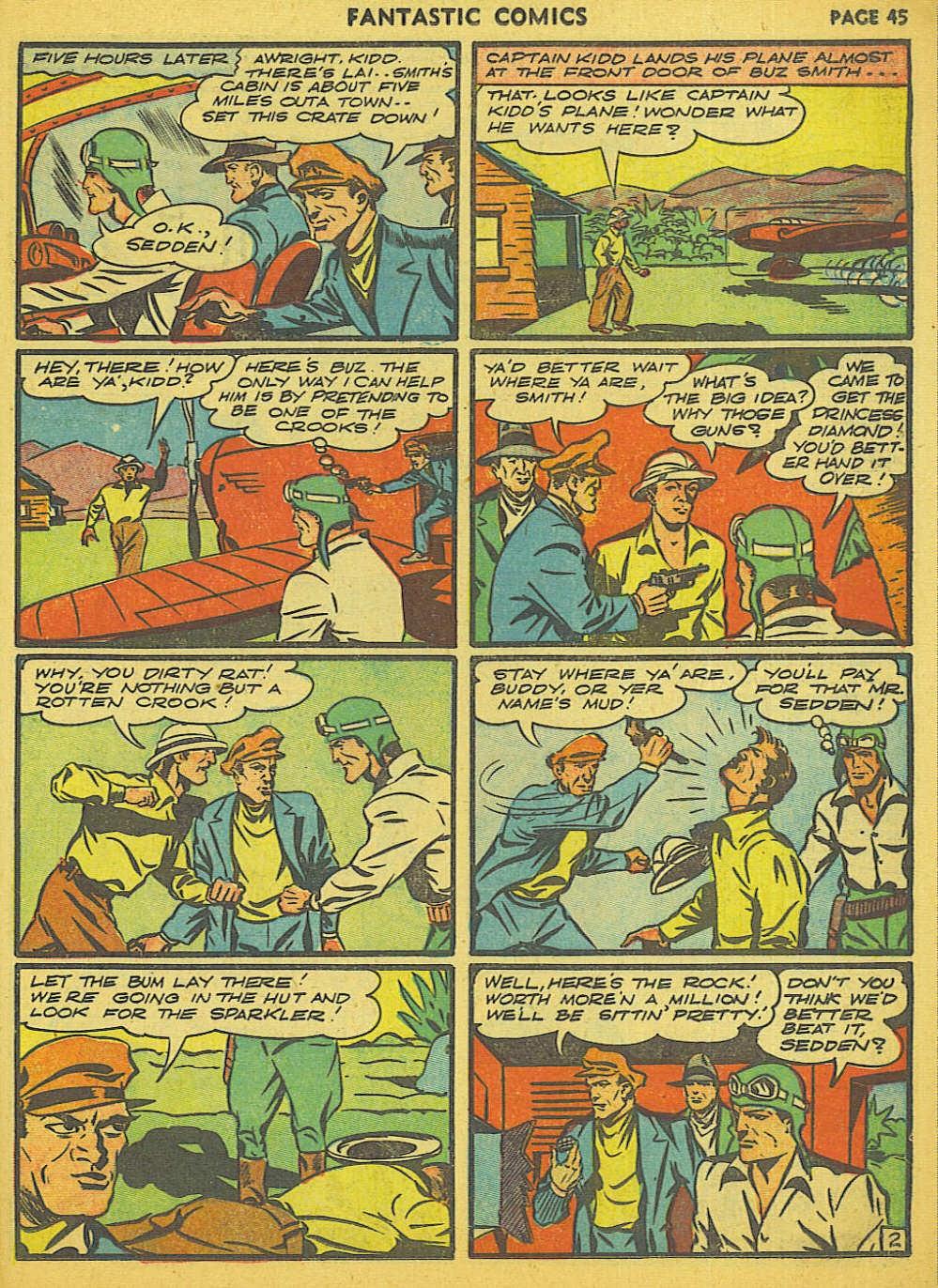 Read online Fantastic Comics comic -  Issue #15 - 39