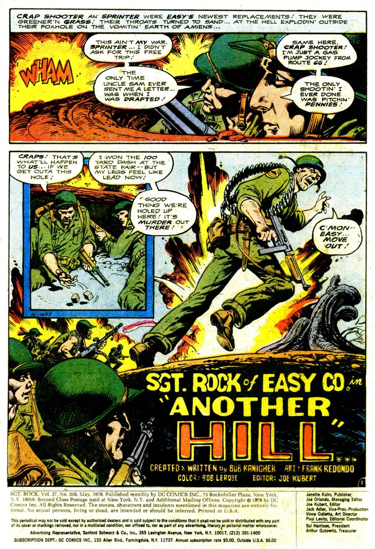 Read online Sgt. Rock comic -  Issue #316 - 3