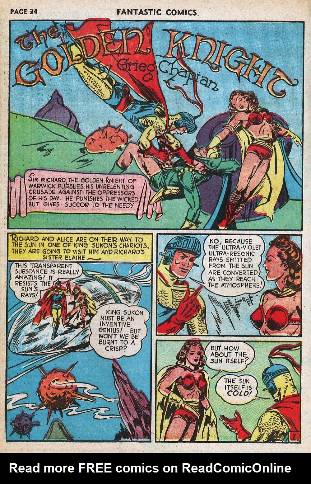 Read online Fantastic Comics comic -  Issue #20 - 34