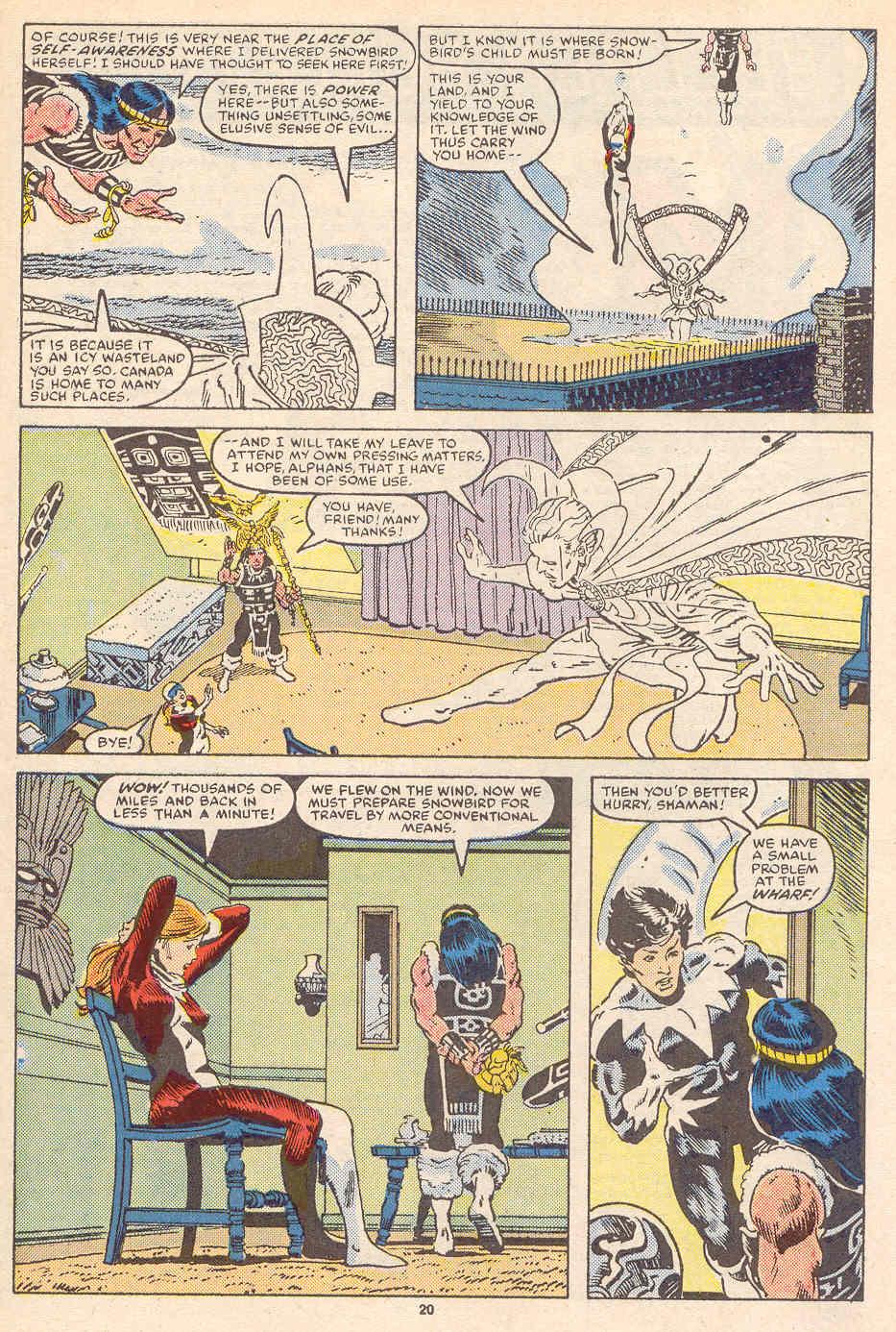 Read online Alpha Flight (1983) comic -  Issue #36 - 21