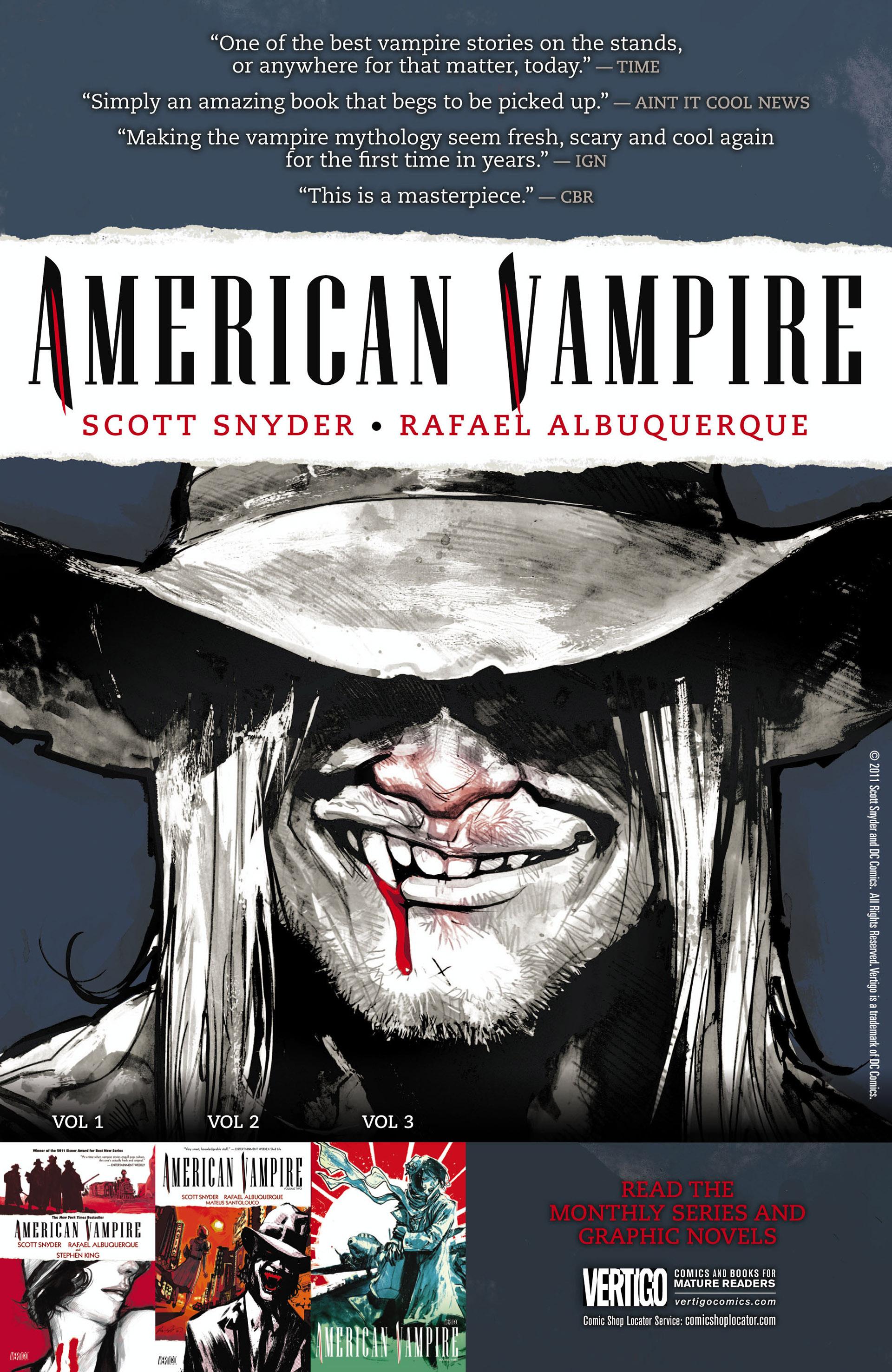 Read online American Vampire comic -  Issue #30 - 22